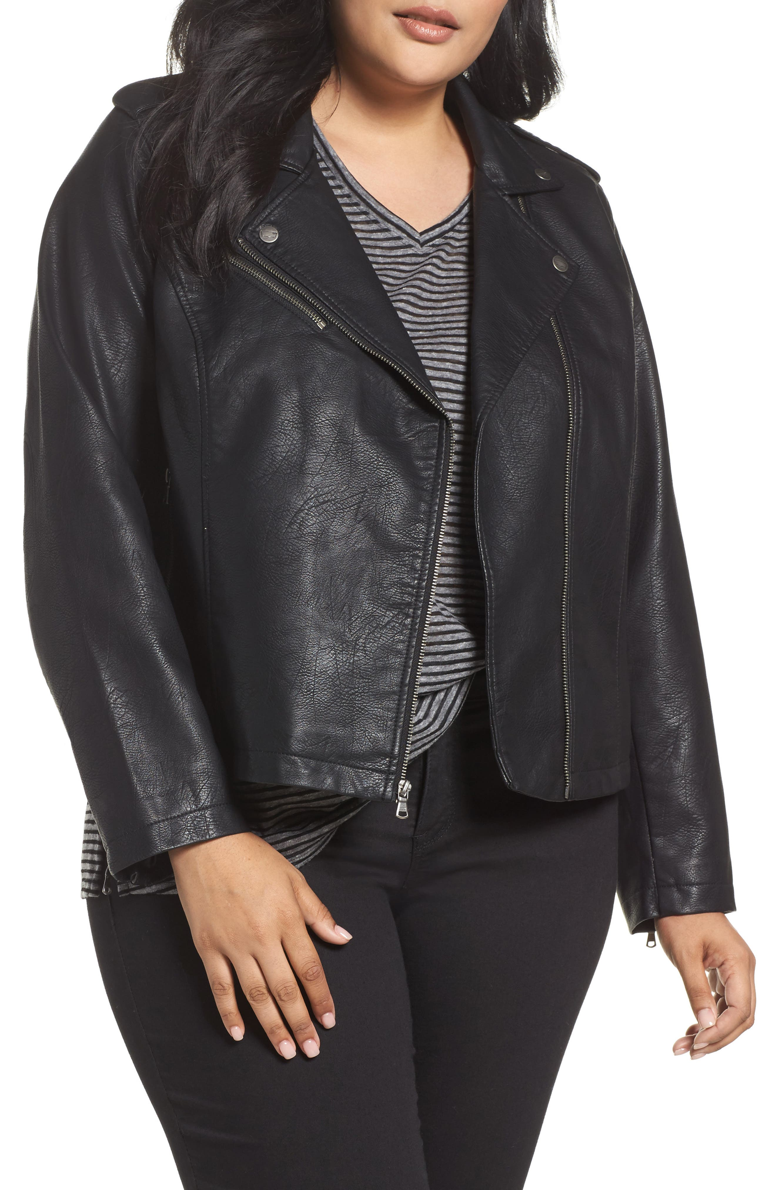 Alternate Image 1 Selected - Levi's® Faux Leather Jacket (Plus Size)