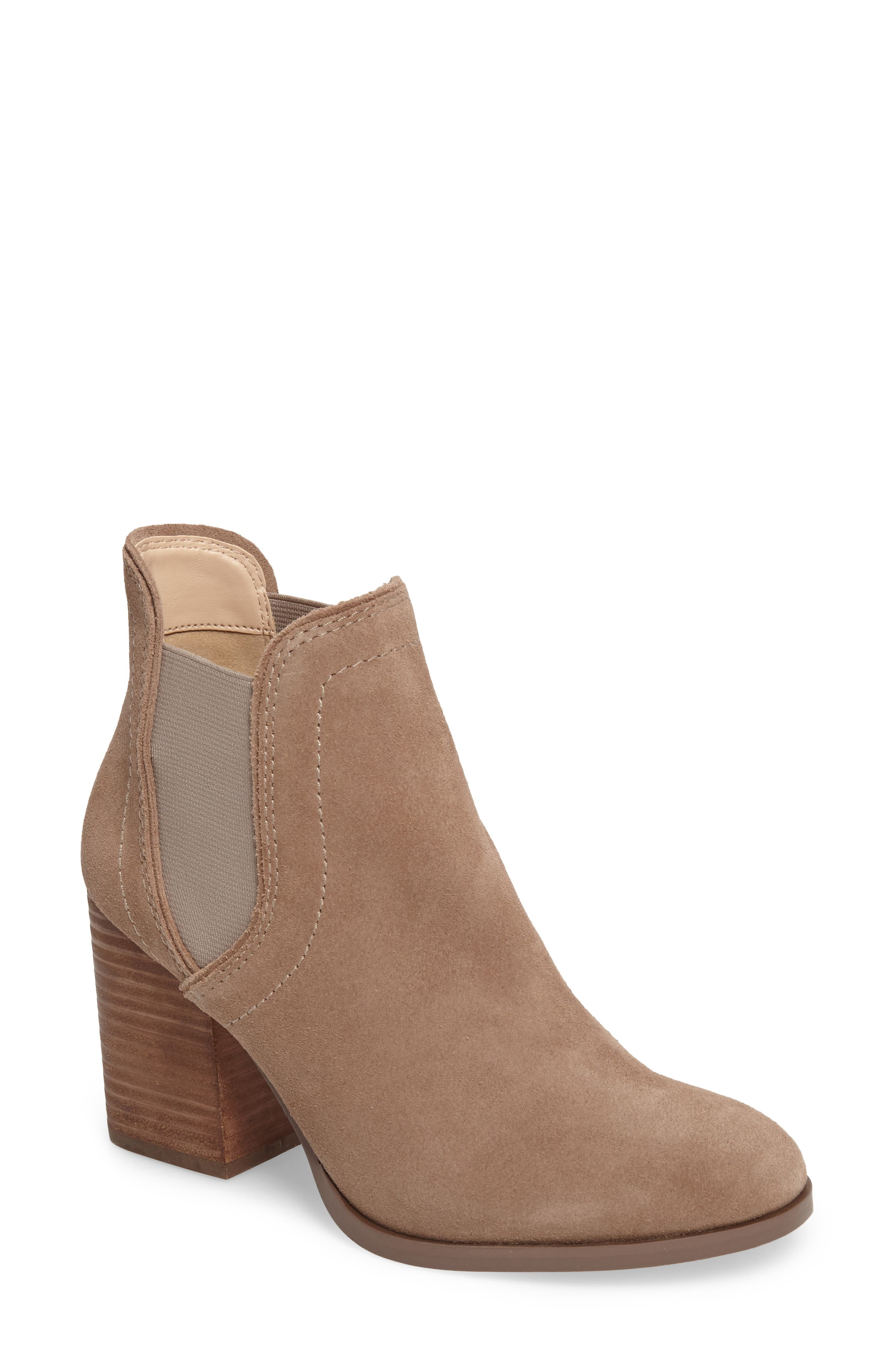 Carrillo Bootie,                             Main thumbnail 1, color,                             Taupe