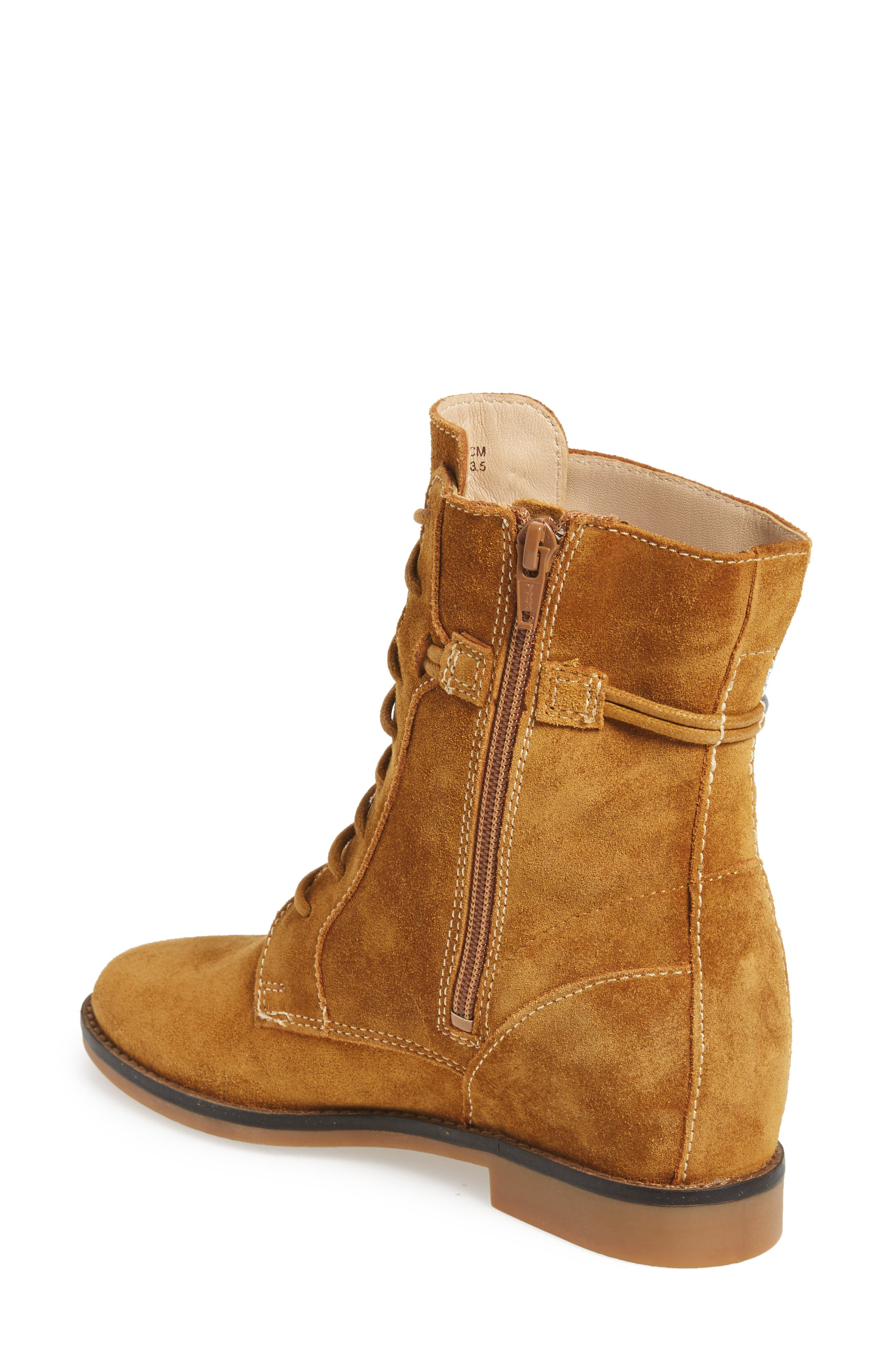 Bab Felise Boot,                             Alternate thumbnail 3, color,                             Camel Suede
