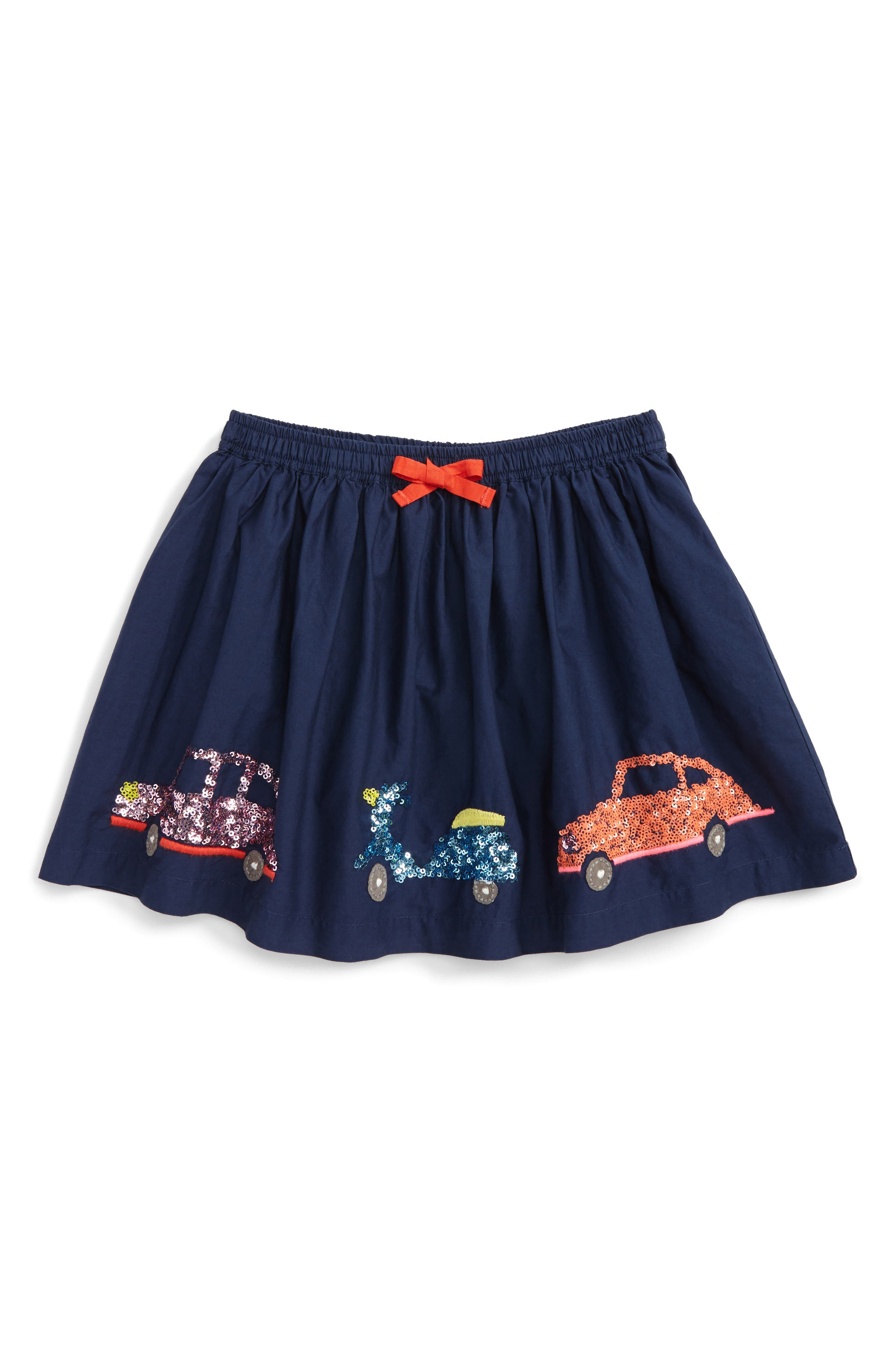 Adventure Sequin Skirt,                             Main thumbnail 1, color,                             School Navy