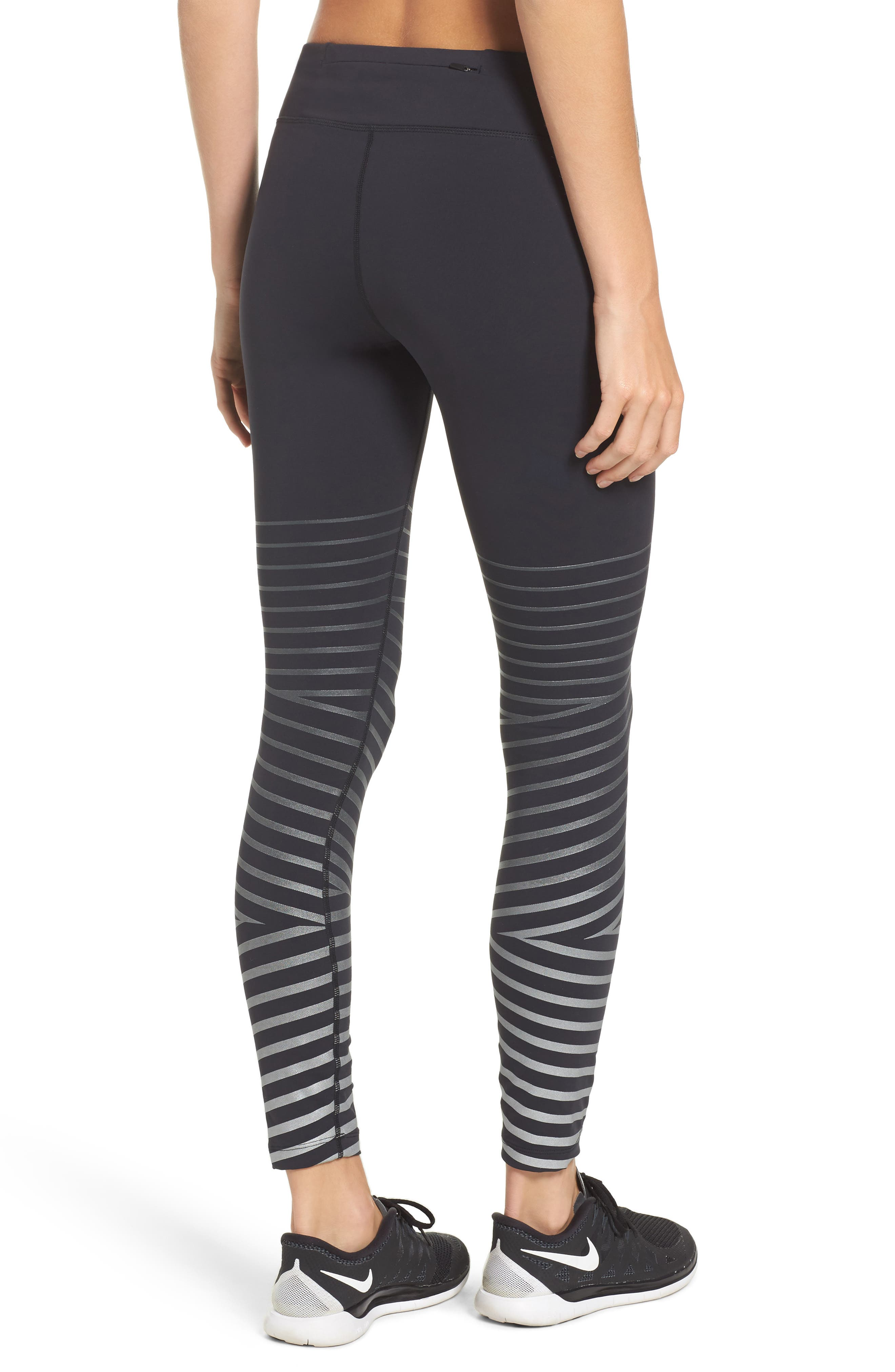 Power Epic Lux Flash Running Tights,                             Alternate thumbnail 2, color,                             Black/ Anthracite
