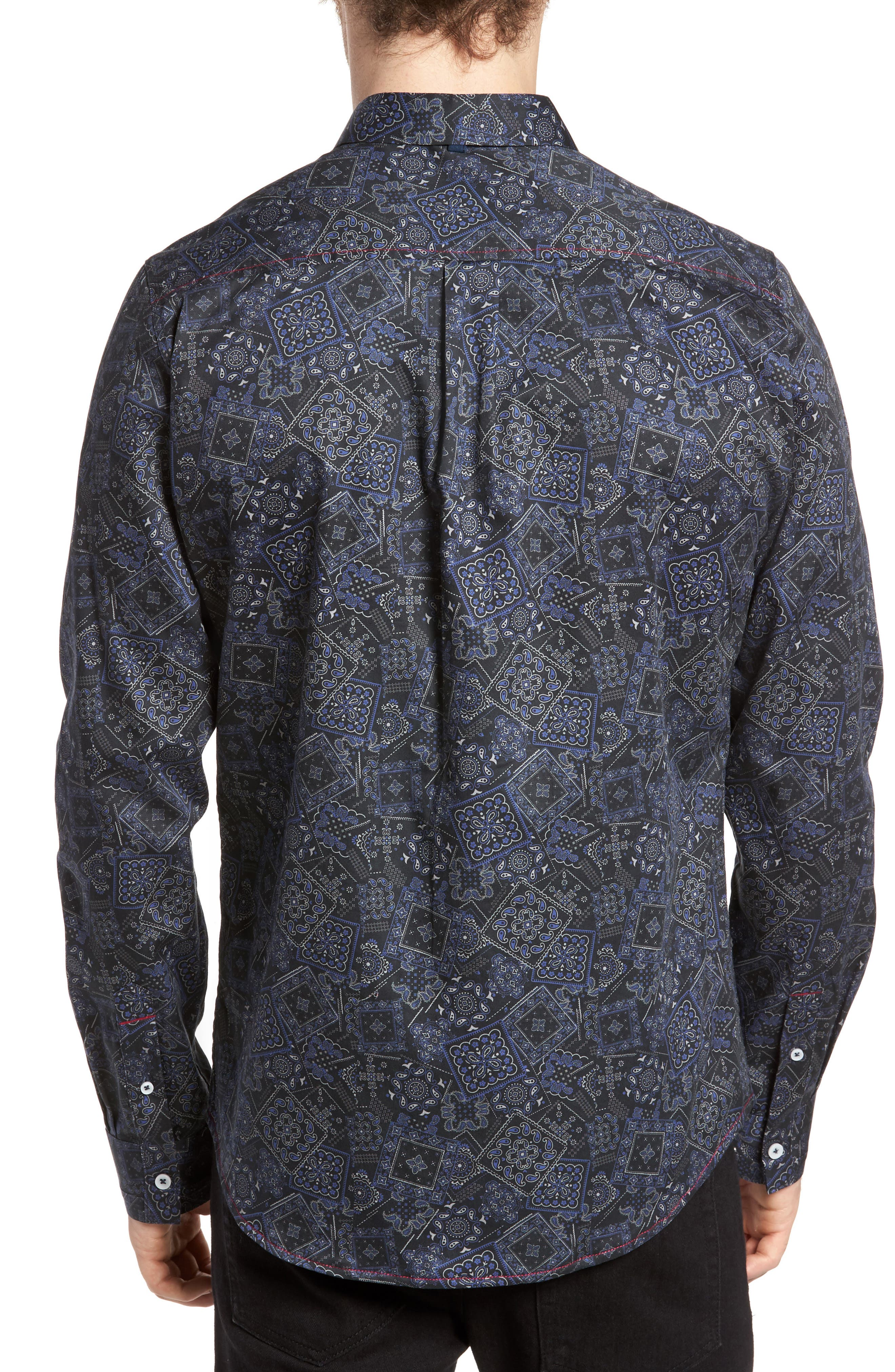 Alternate Image 2  - Descendant of Thieves Bandana Woven Shirt