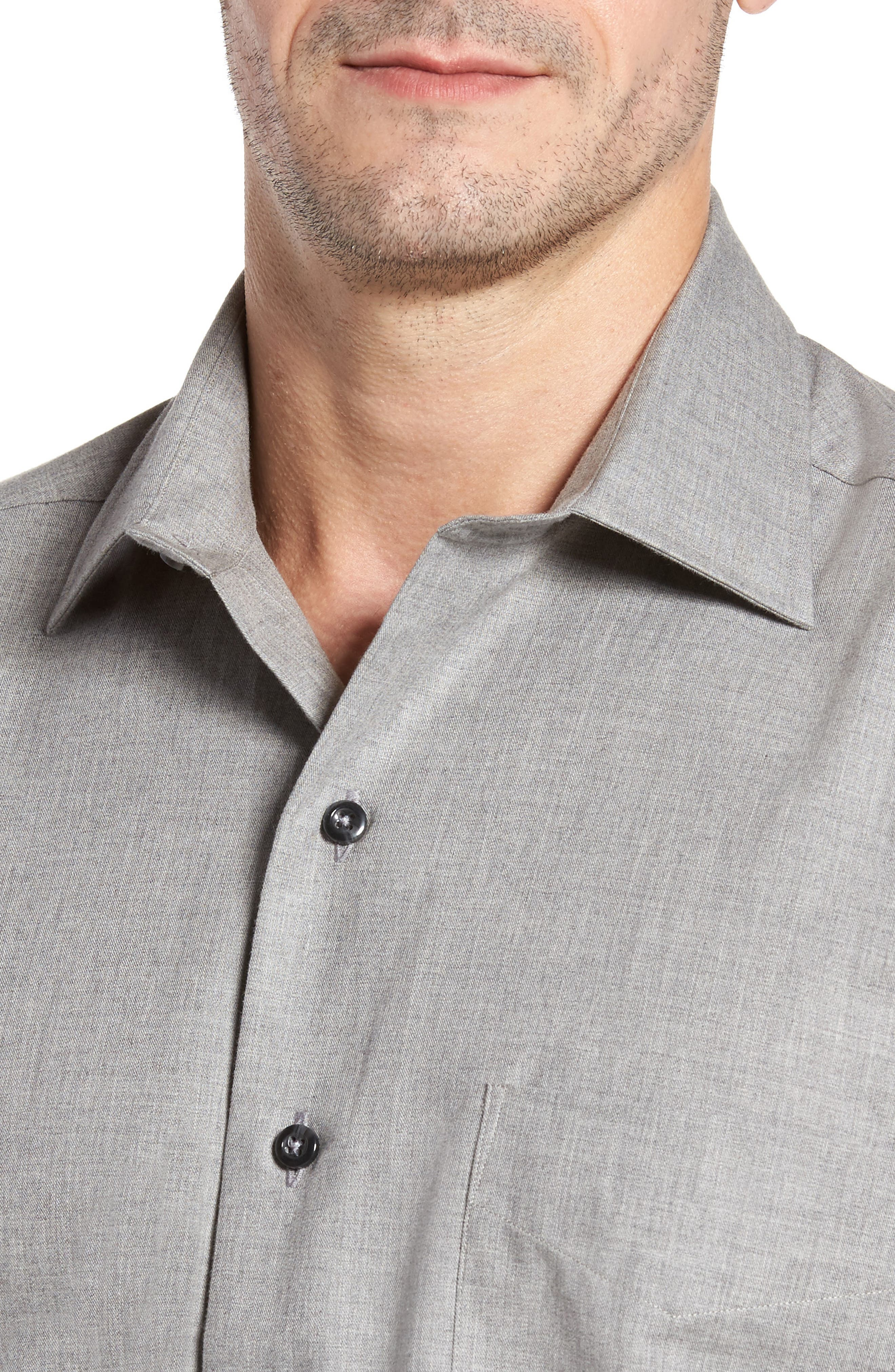 Alternate Image 4  - David Donahue Regular Fit Sport Shirt