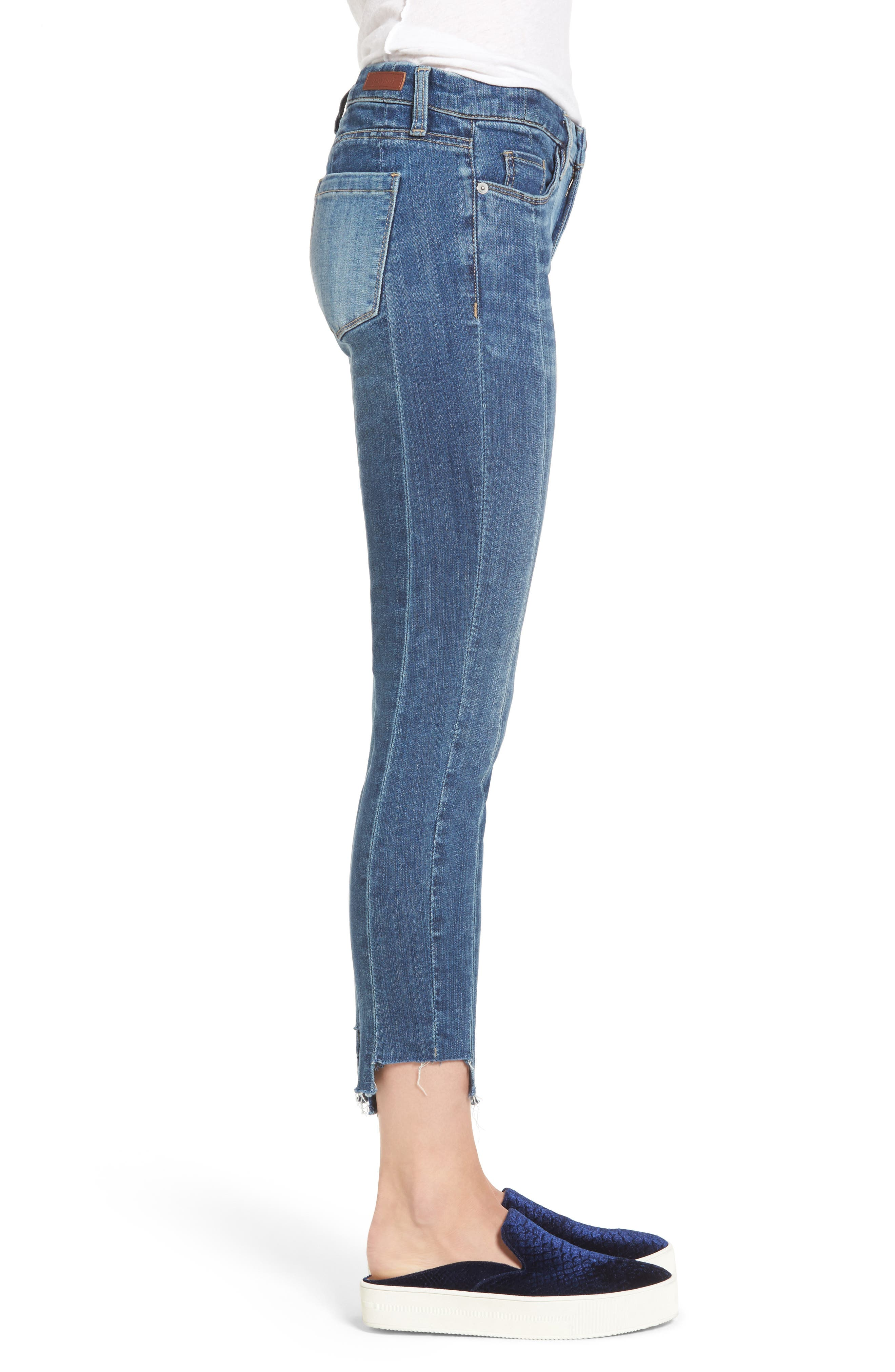 Alternate Image 3  - BLANKNYC Step Hem Skinny Jeans