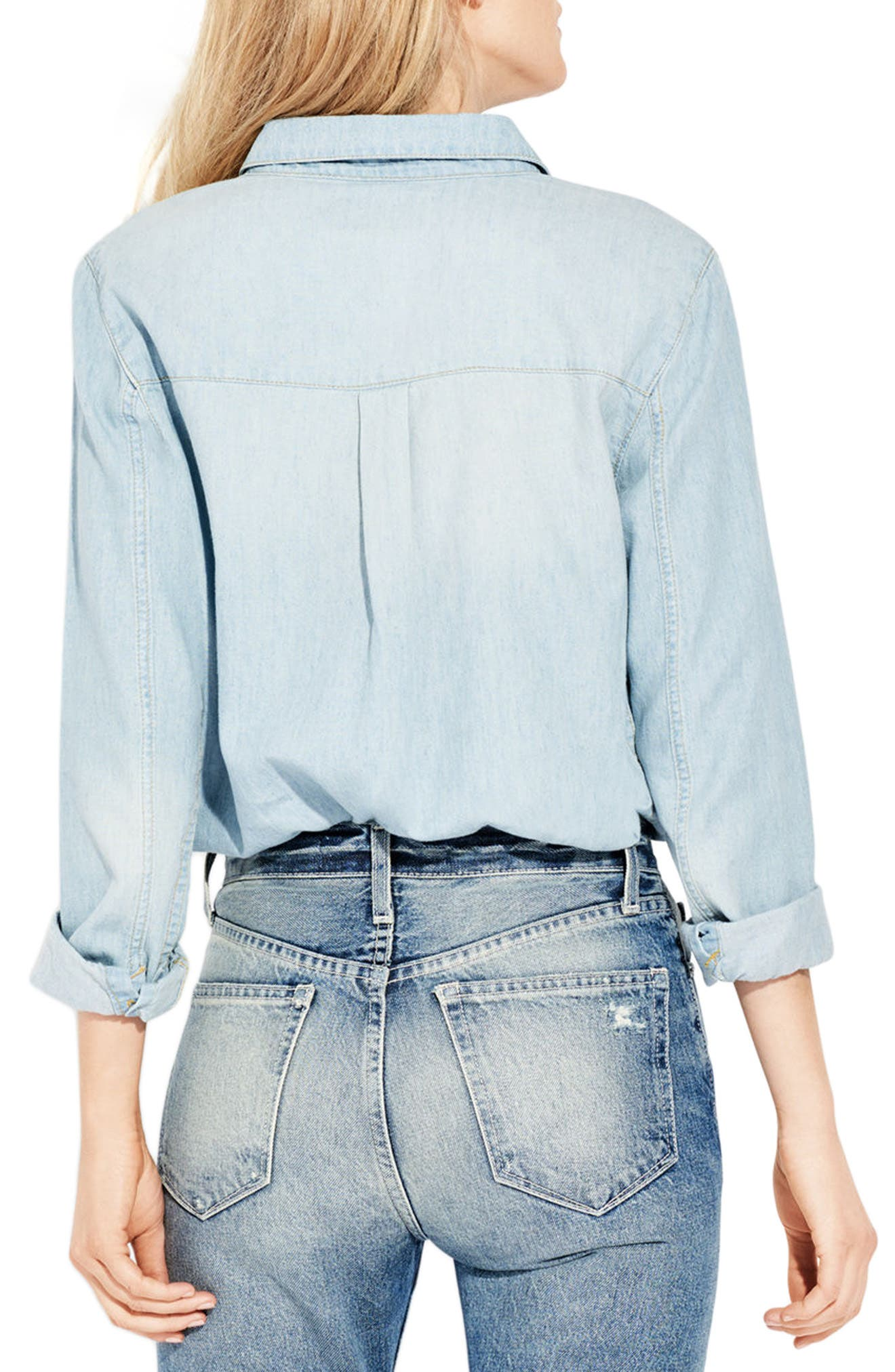 The Wish Chambray Shirt,                             Alternate thumbnail 2, color,                             Cotton Puff