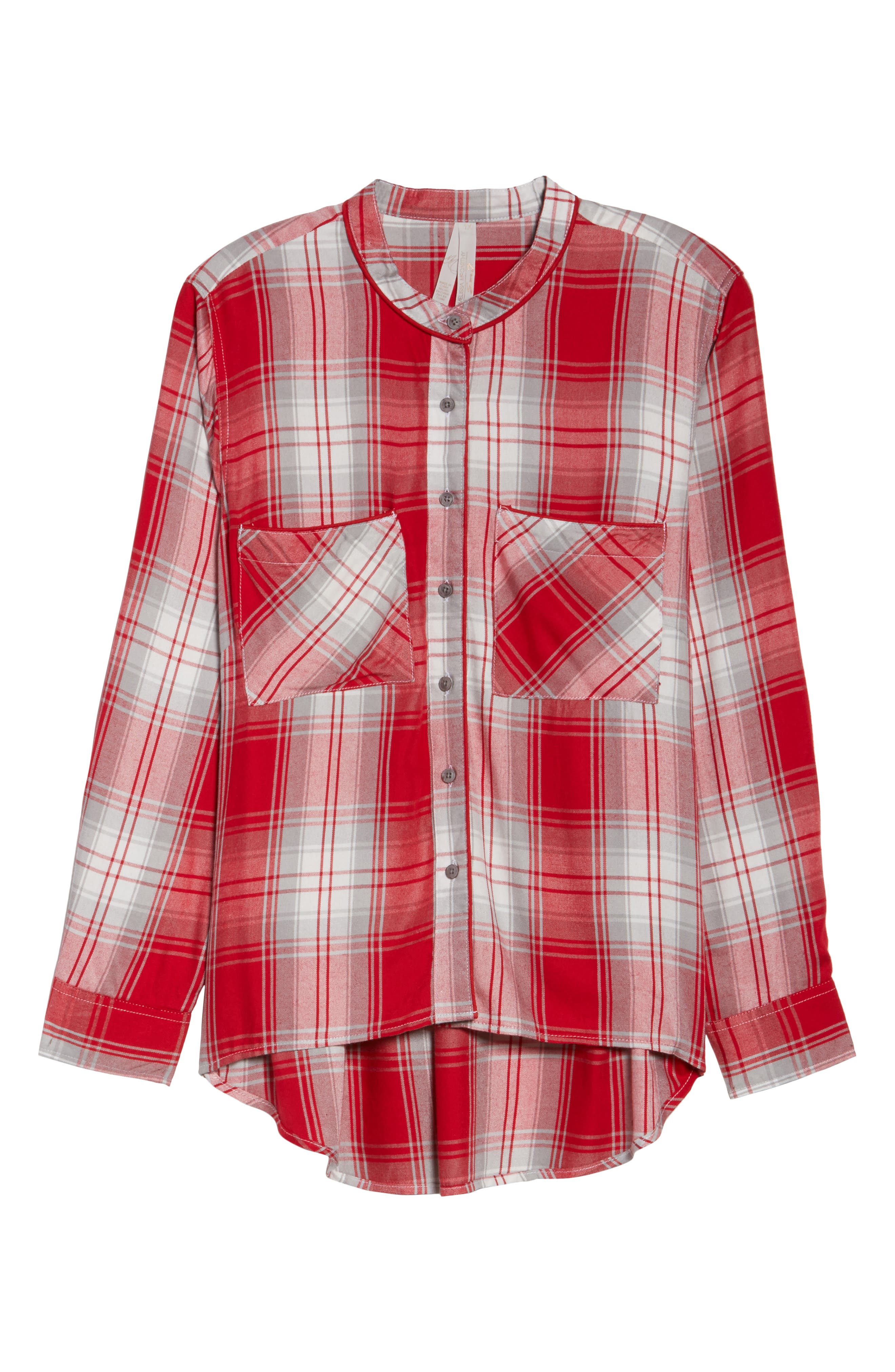 Alternate Image 6  - Melissa McCarthy Seven7 Plaid Shirt (Plus Size)