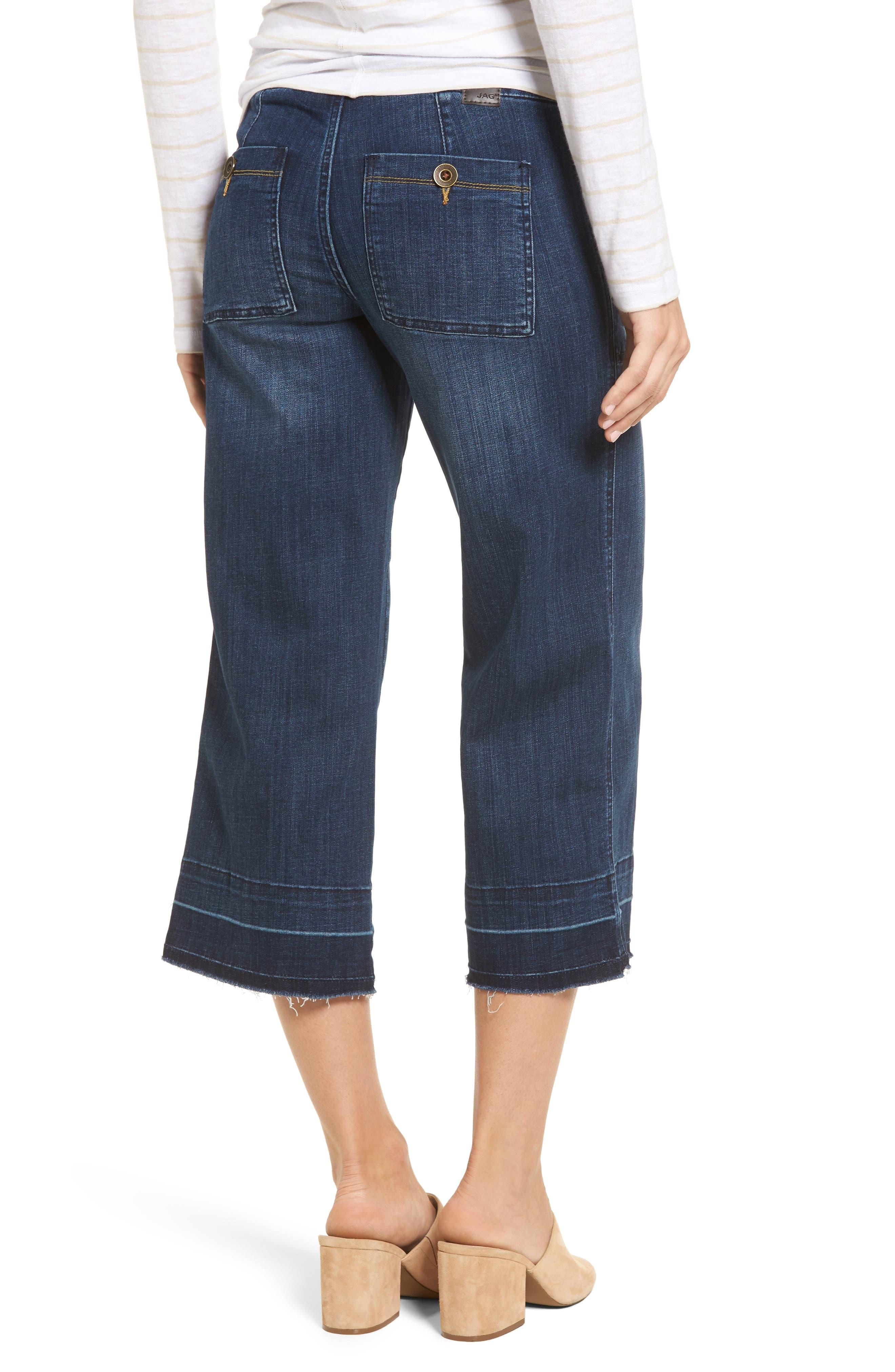 Alternate Image 2  - Jag Jeans Snyder Pull-On Wide Leg Jeans (Thorne Blue)