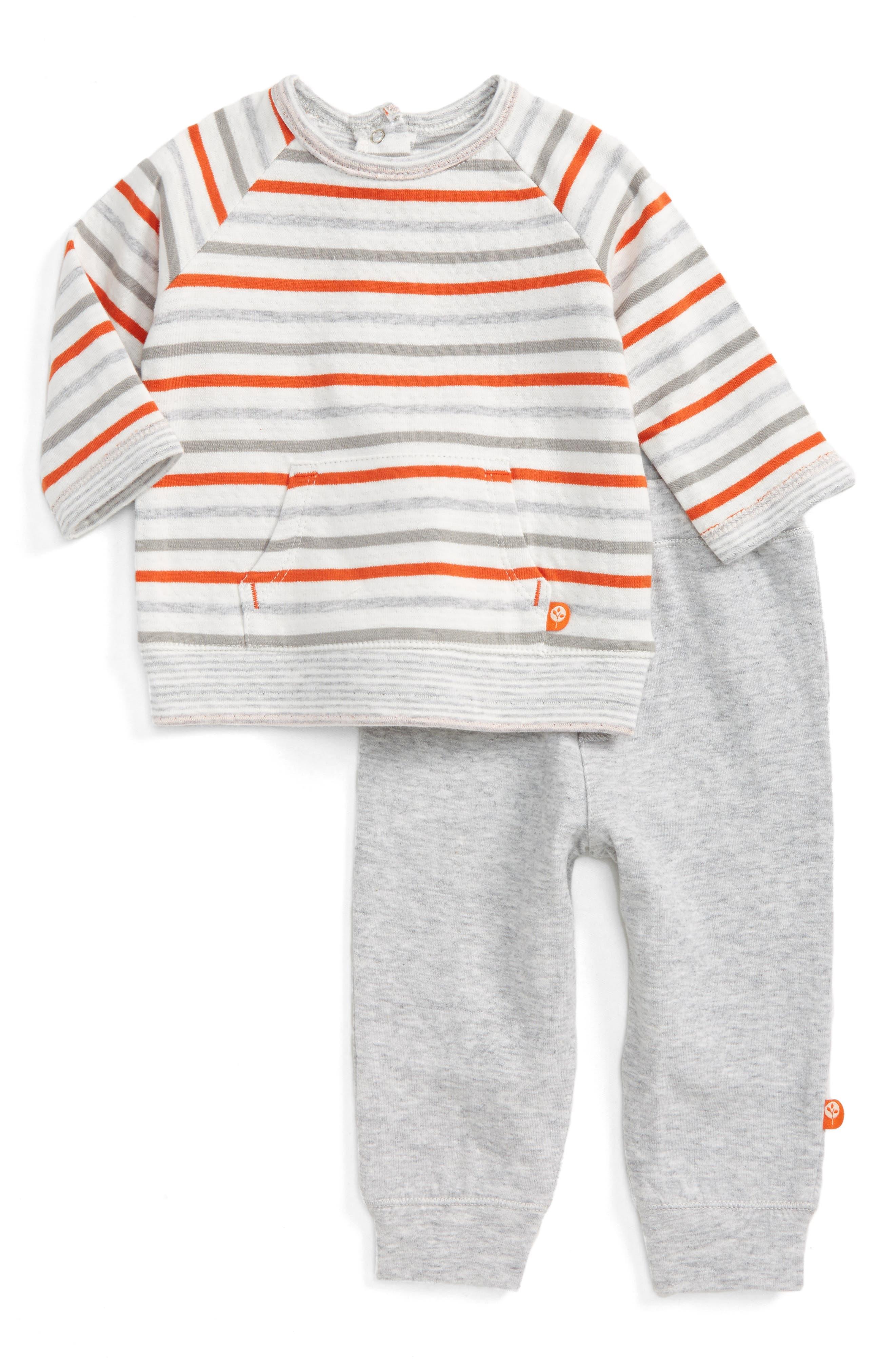 Alternate Image 1 Selected - Offspring Safari Fun Sweatshirt & Pants Set (Baby Boys)