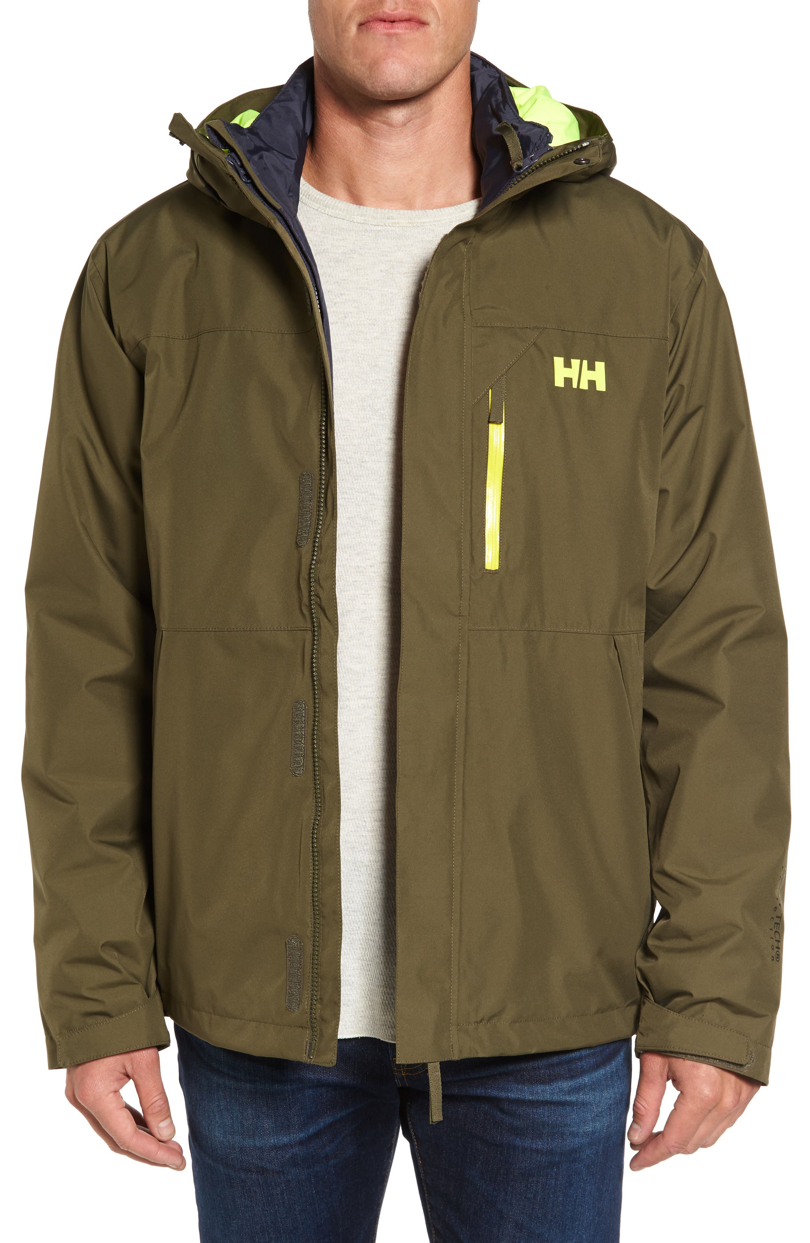 Alternate Image 1 Selected - Helly Hansen Squamish 3-in-1 Water Repellent Hooded Jacket