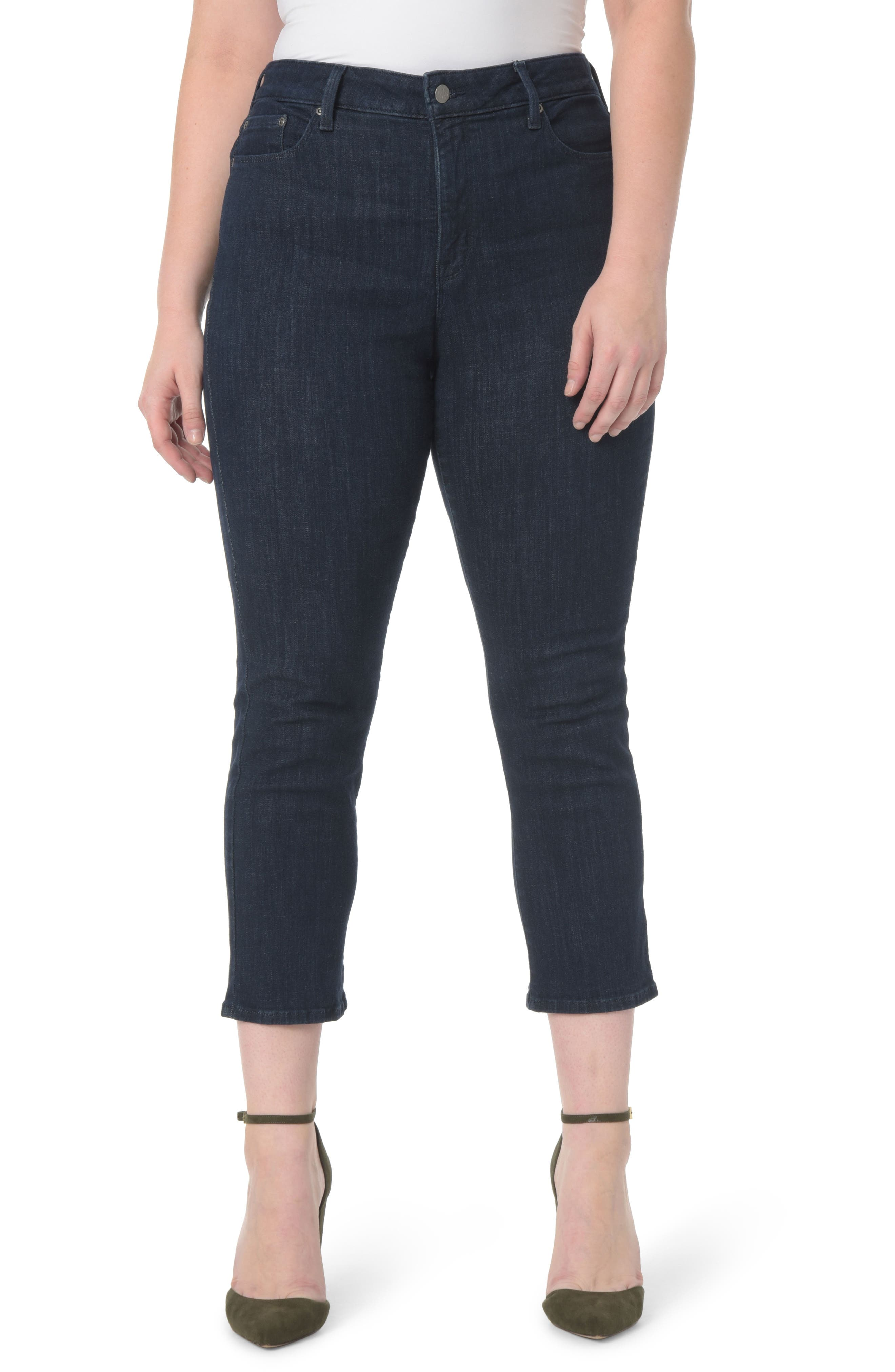 Marilyn Stretch Straight Leg Crop Jeans,                         Main,                         color, Rambard