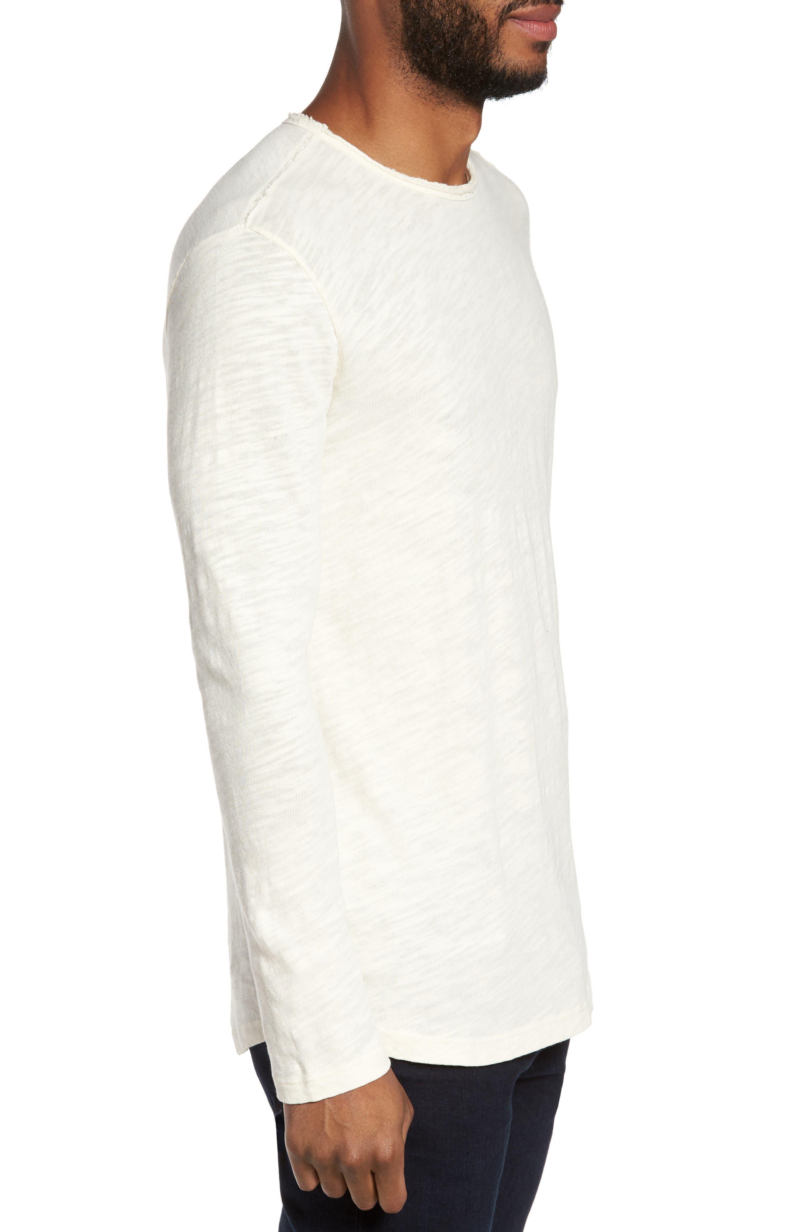 Slub Long Sleeve T-Shirt,                             Alternate thumbnail 3, color,                             Ecru