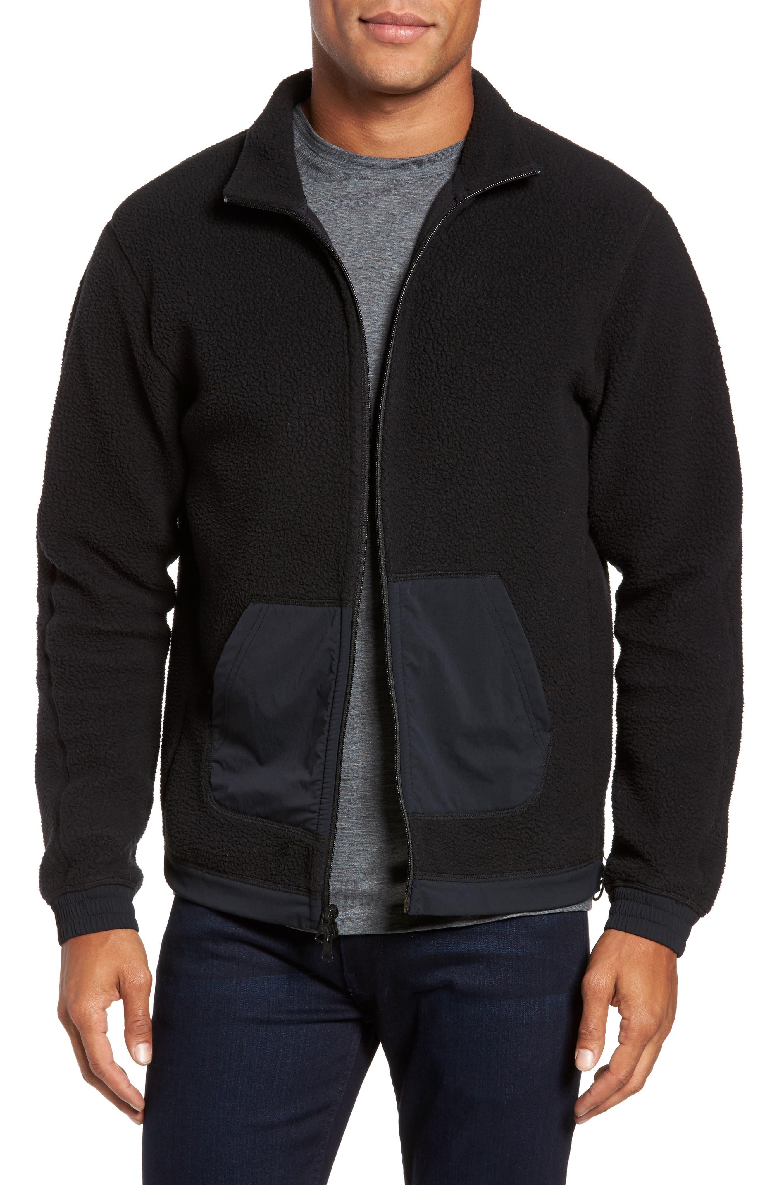 Trim Fit Trail Jacket,                         Main,                         color, Black