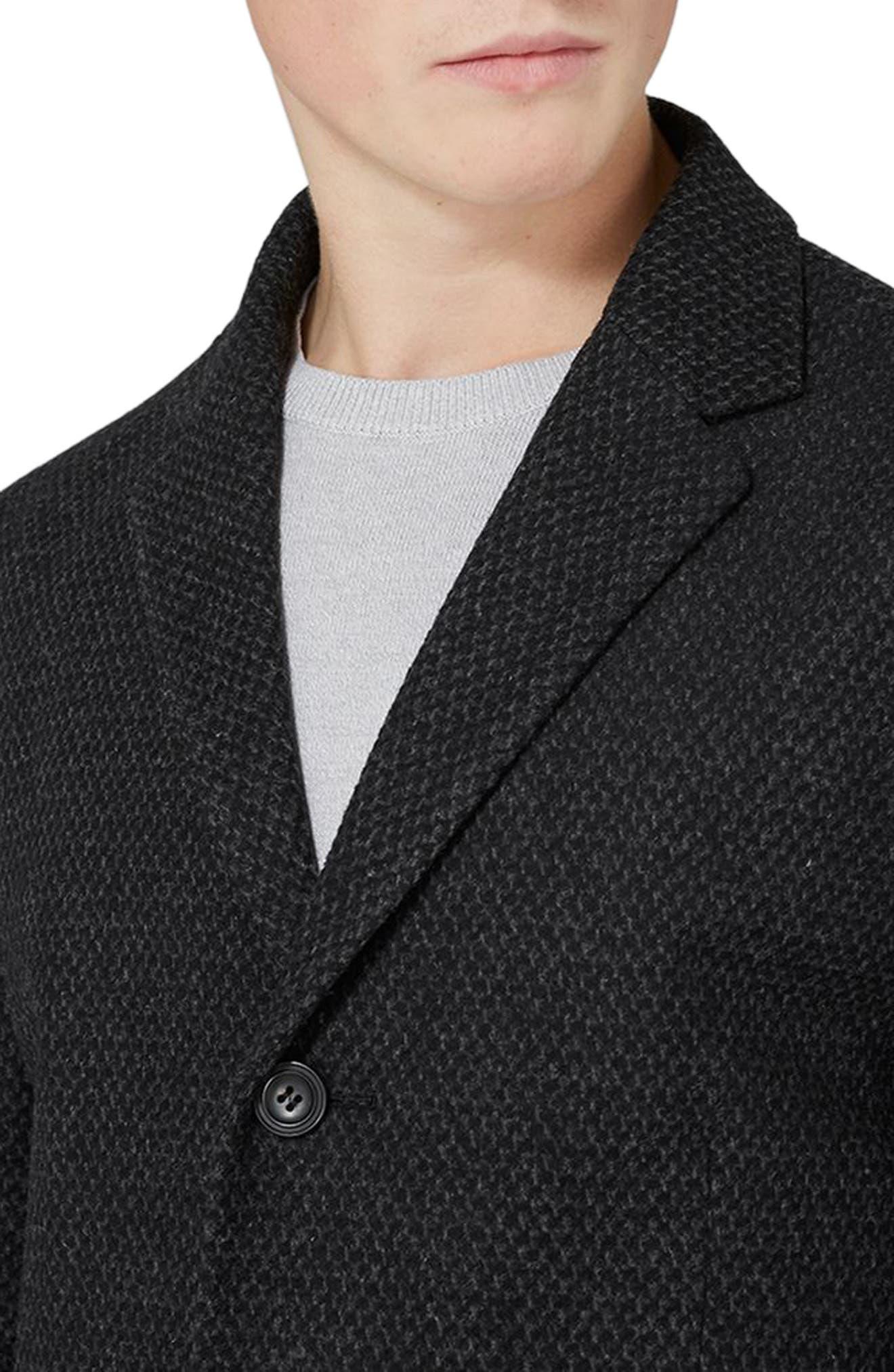 Alternate Image 3  - Topman Textured Overcoat
