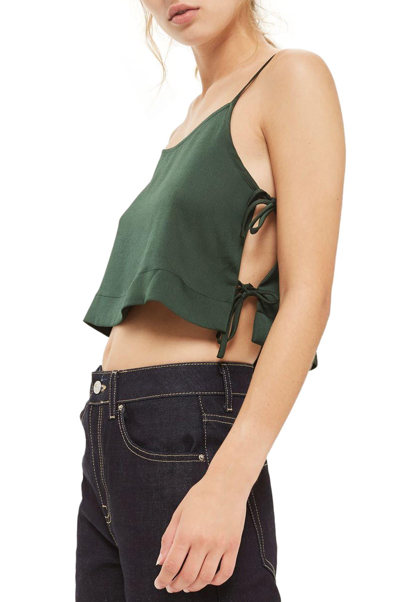 Alternate Image 3  - Topshop Side Tie Crop Camisole