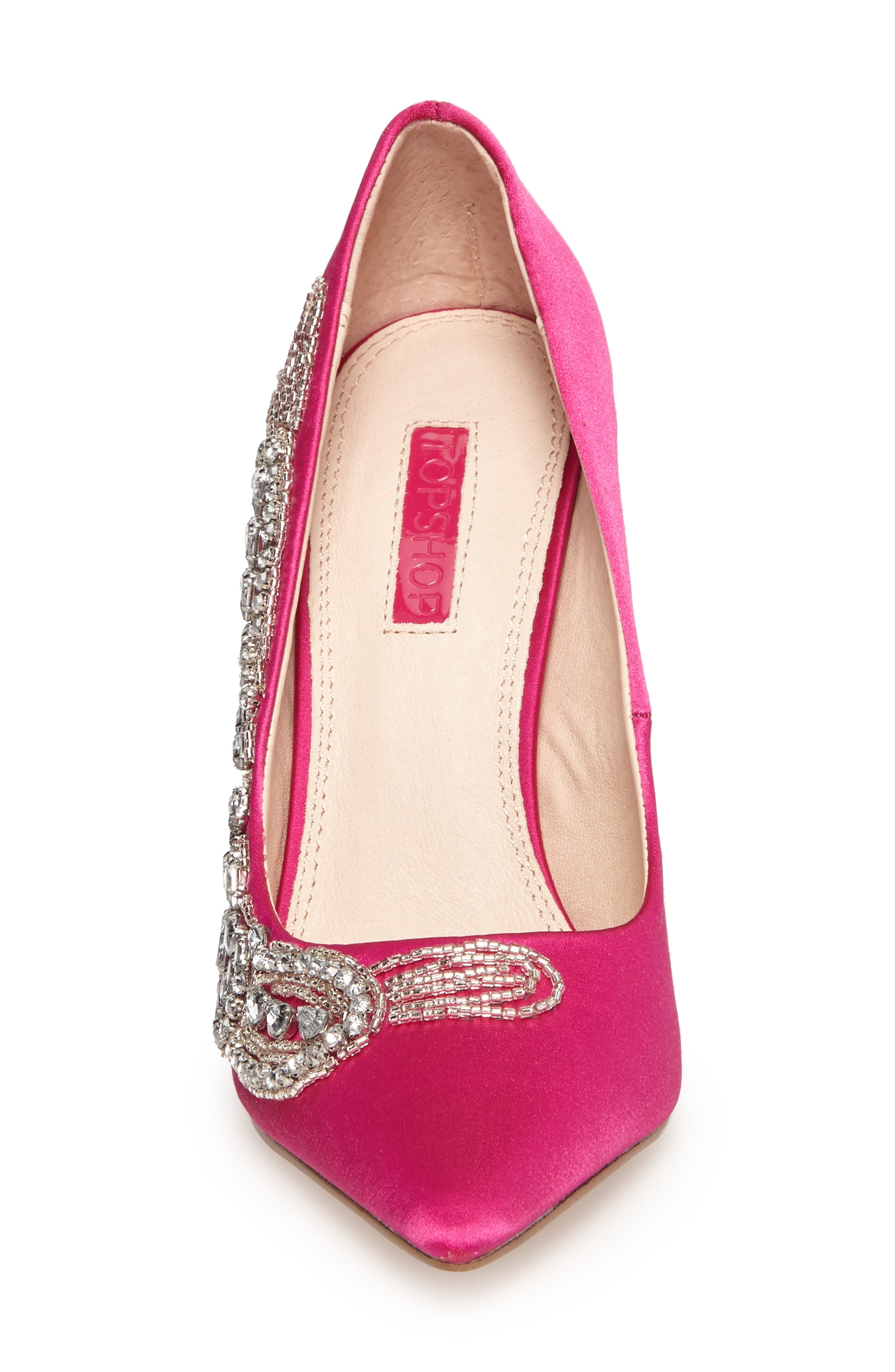 April Embellished Pump,                             Alternate thumbnail 4, color,                             Pink Multi