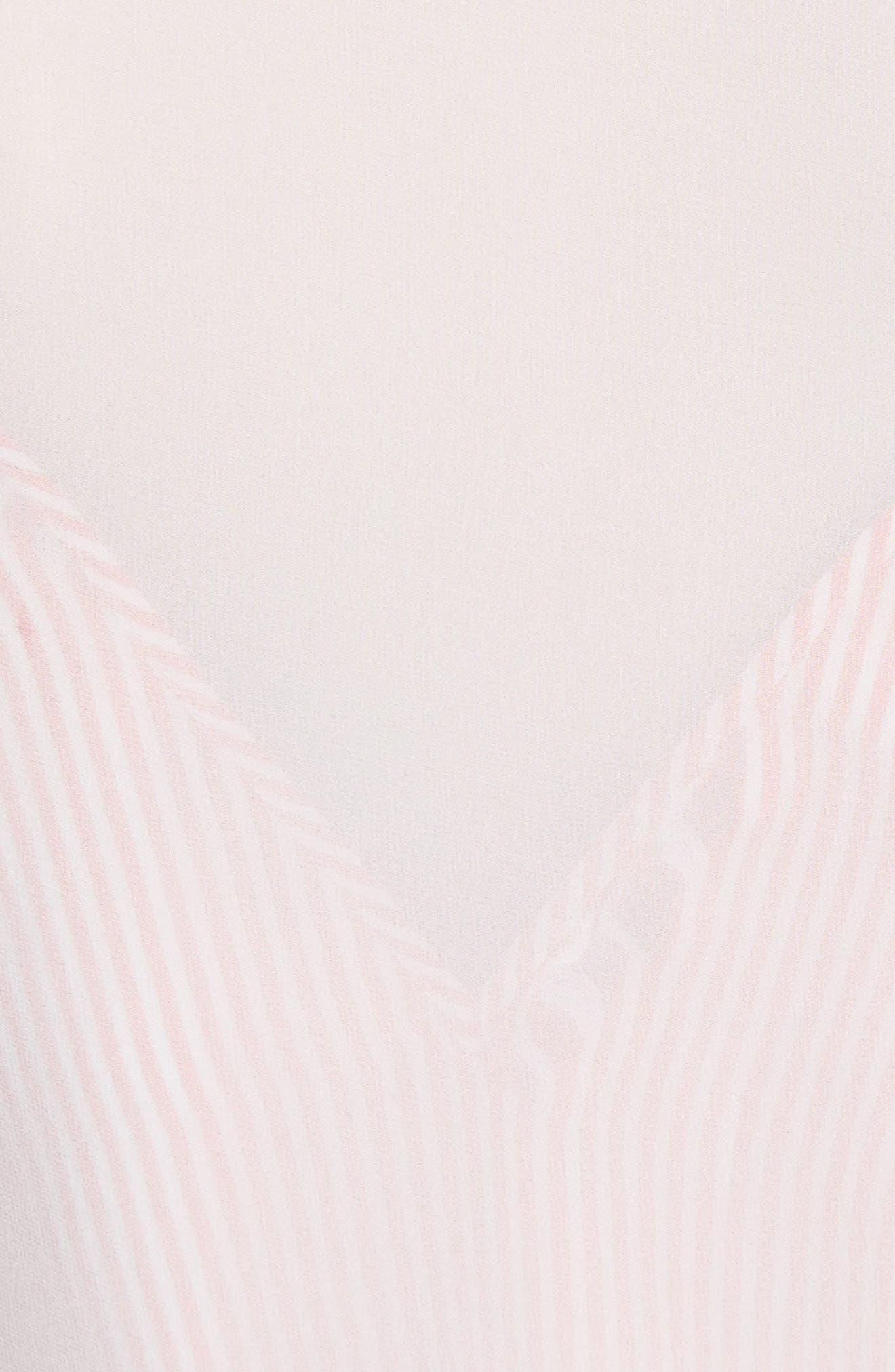 Lace Trim Silk Blouse,                             Alternate thumbnail 5, color,                             Natural White