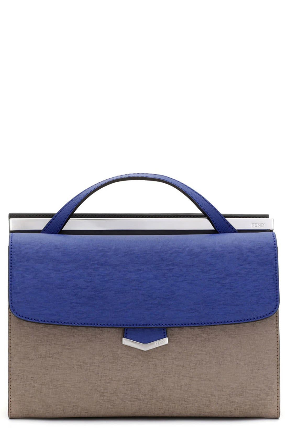Alternate Image 1 Selected - Fendi 'Demi Jour' Colorblock Leather Satchel
