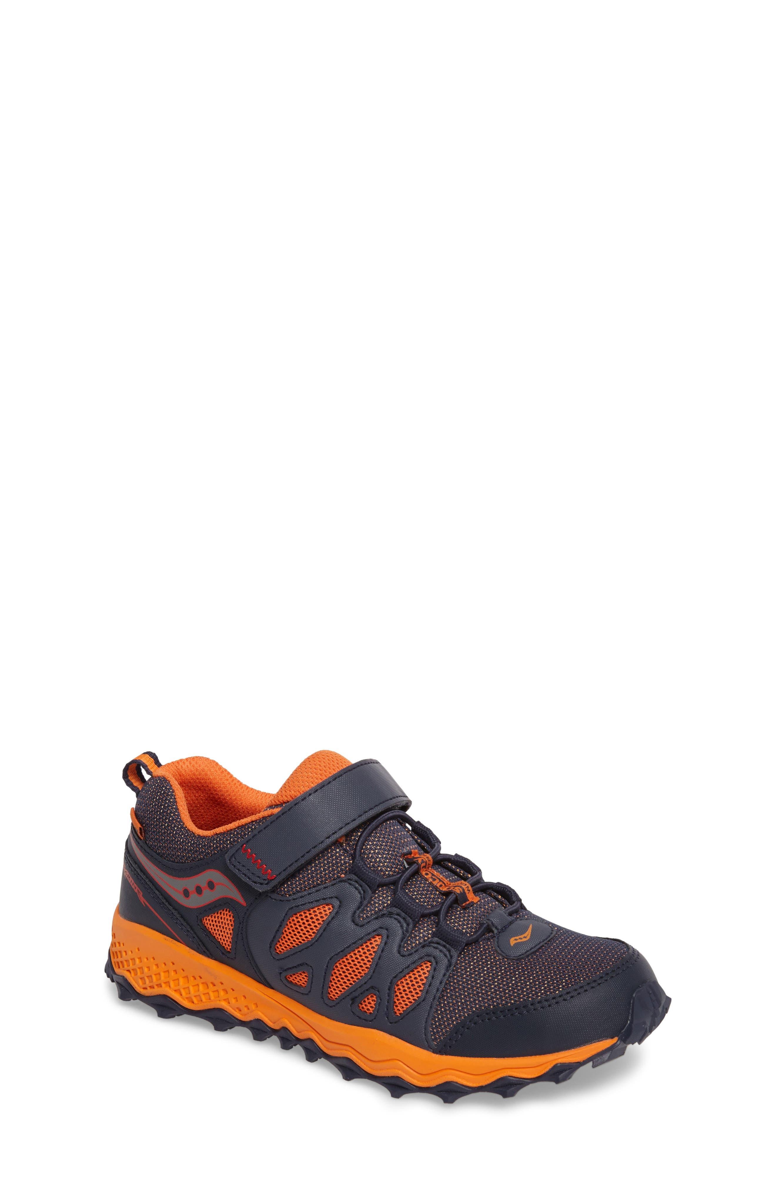 Peregrine Shield Water-Resistant Sneaker,                             Main thumbnail 1, color,                             Navy/ Orange