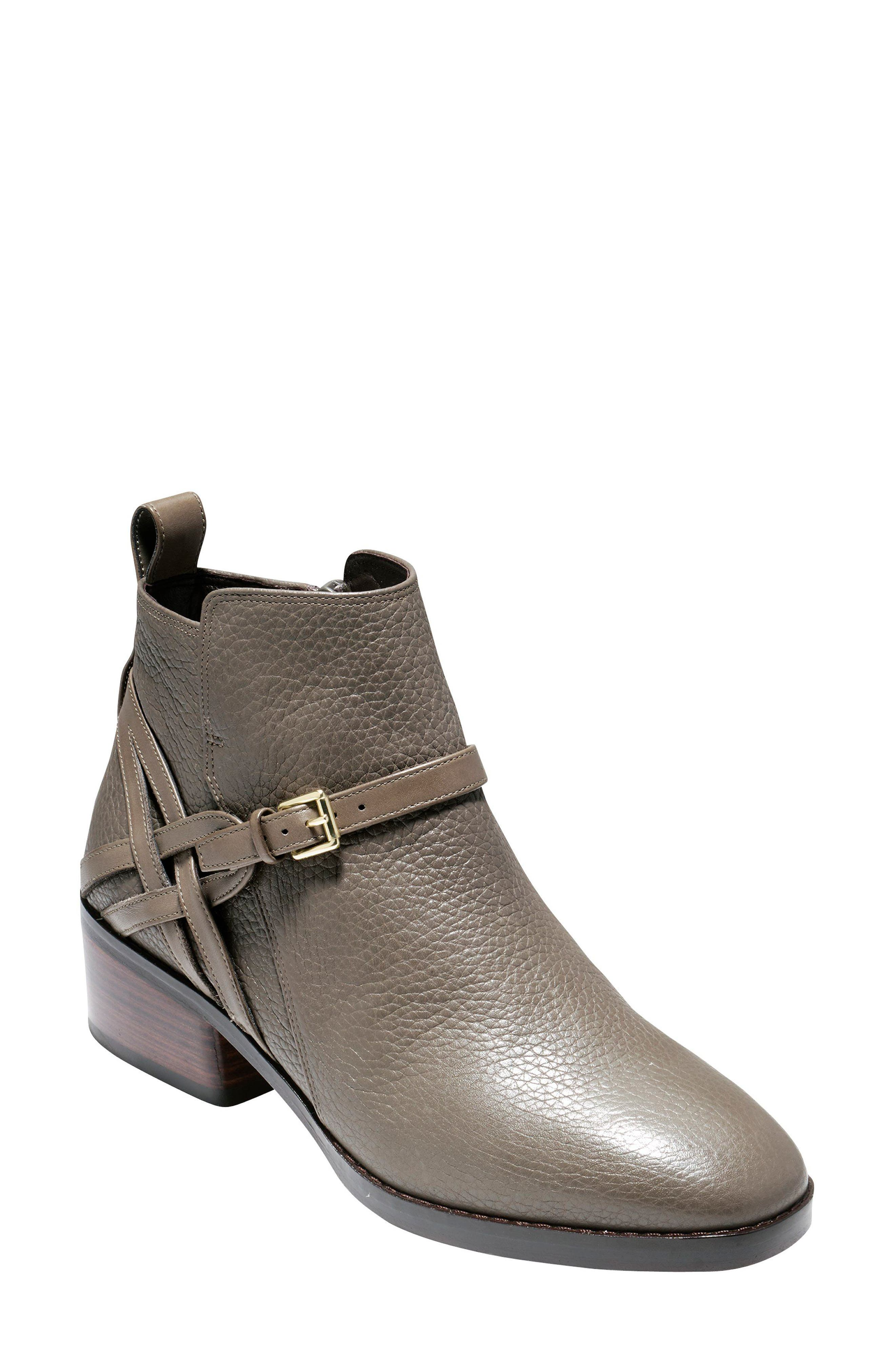 Pearlie Bootie,                             Main thumbnail 1, color,                             Morel Leather