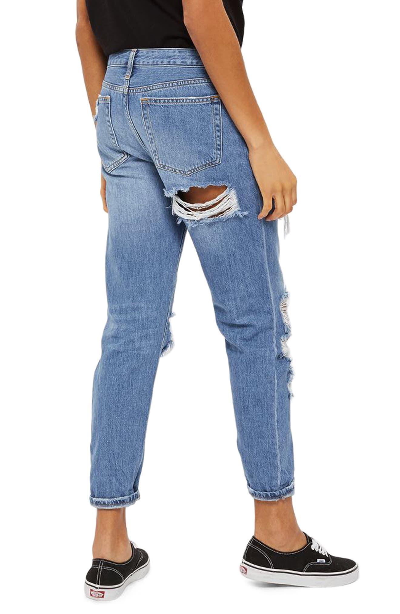Alternate Image 2  - Topshop Hayden Cheeky Rip Boyfriend Jeans