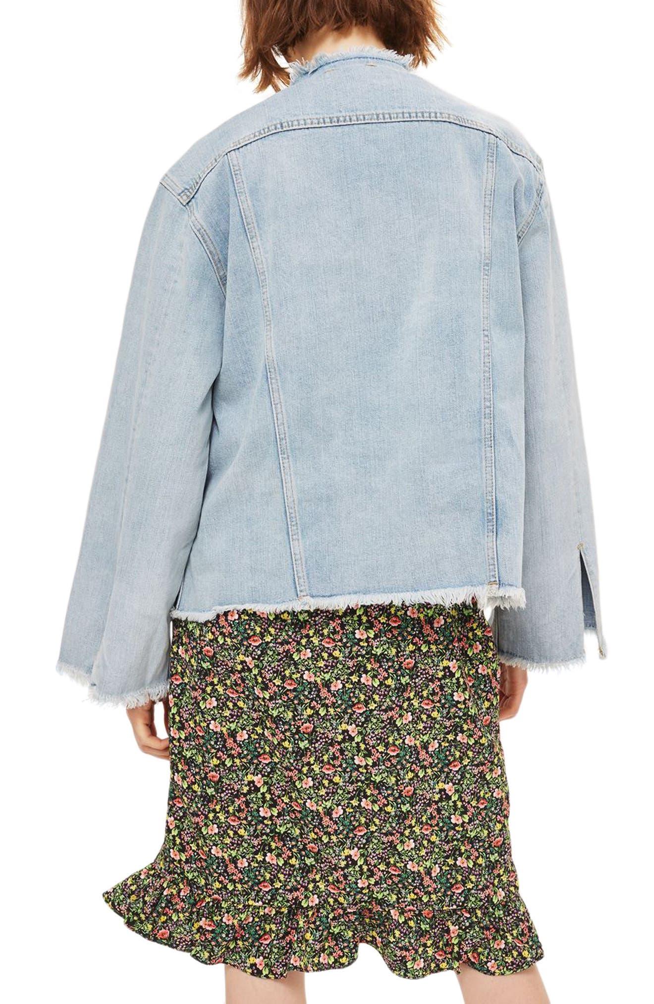 Alternate Image 2  - Topshop Zip Through Denim Jacket