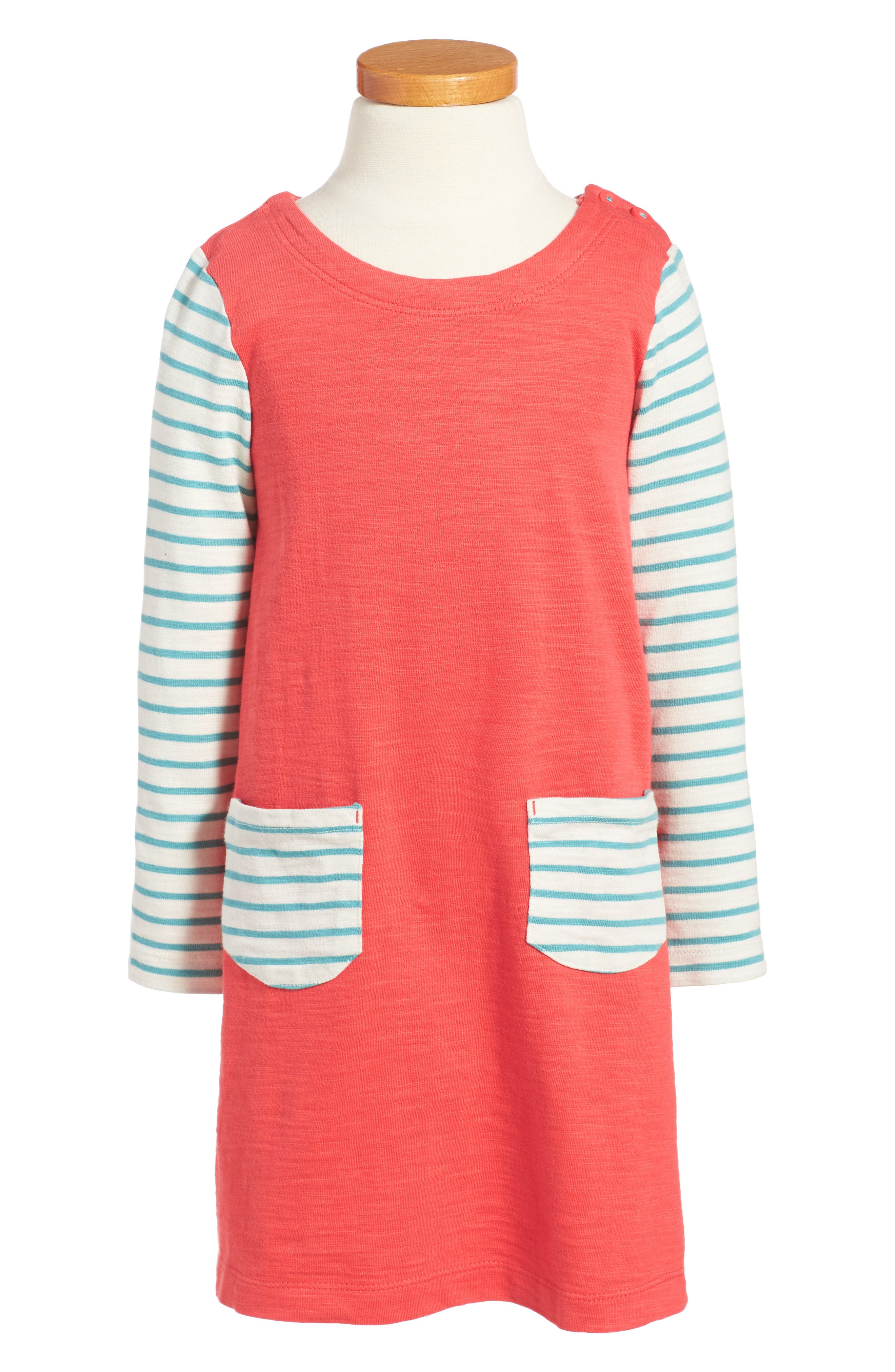 Stripey Jersey Dress,                         Main,                         color, Red Jam
