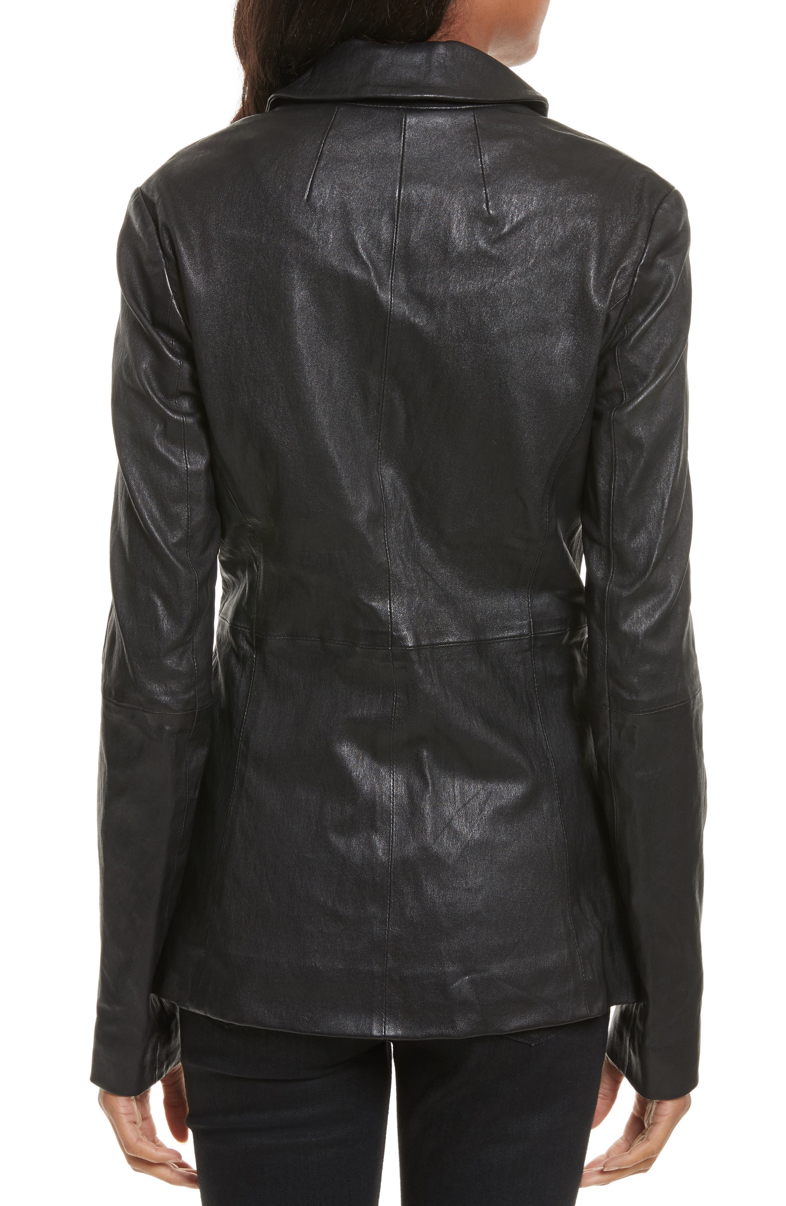 Alternate Image 2  - Tracy Reese Leather Jacket