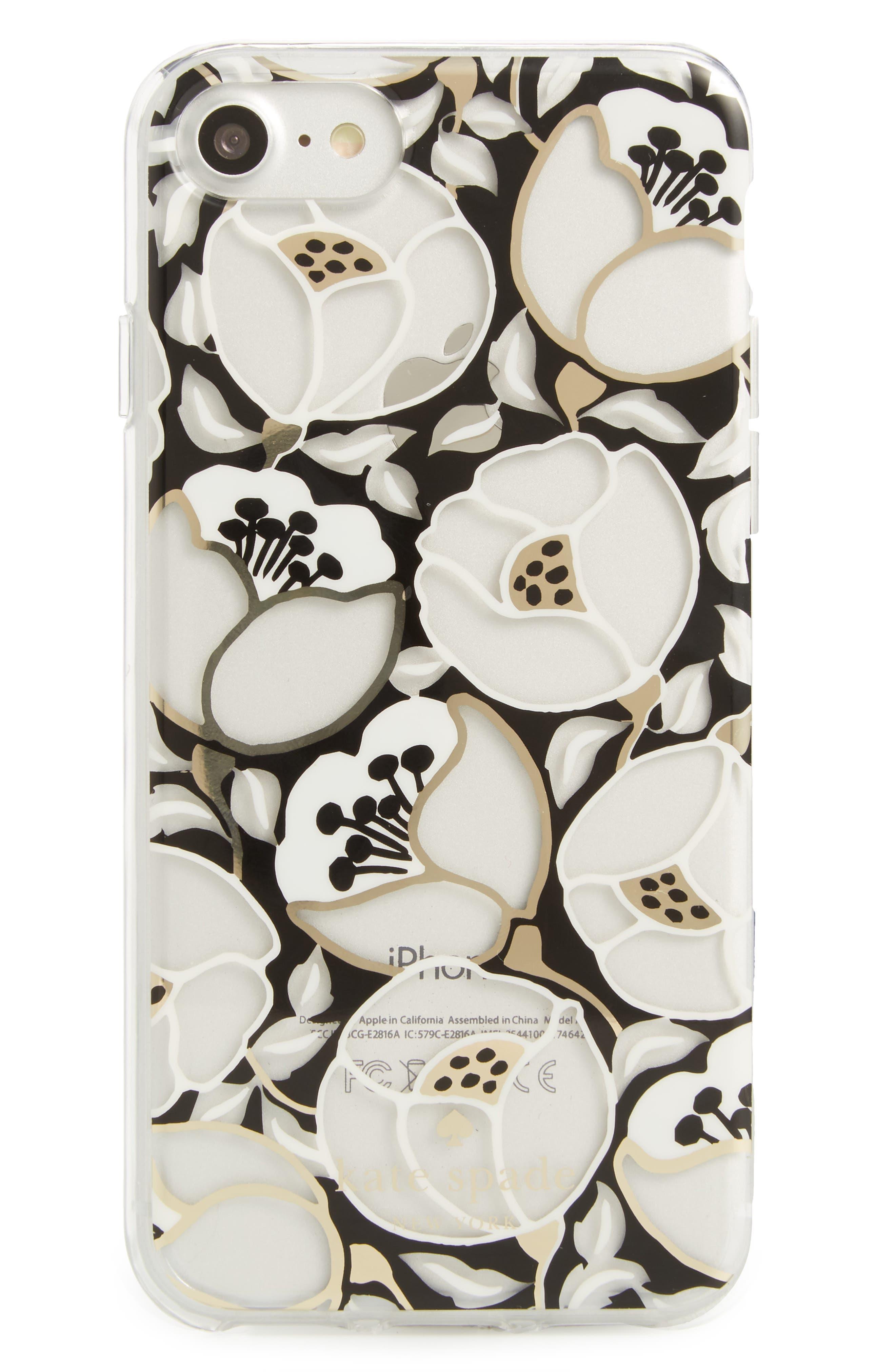 paris poppy iPhone 7/8 & 7/8 Plus case,                         Main,                         color, Clear Multi