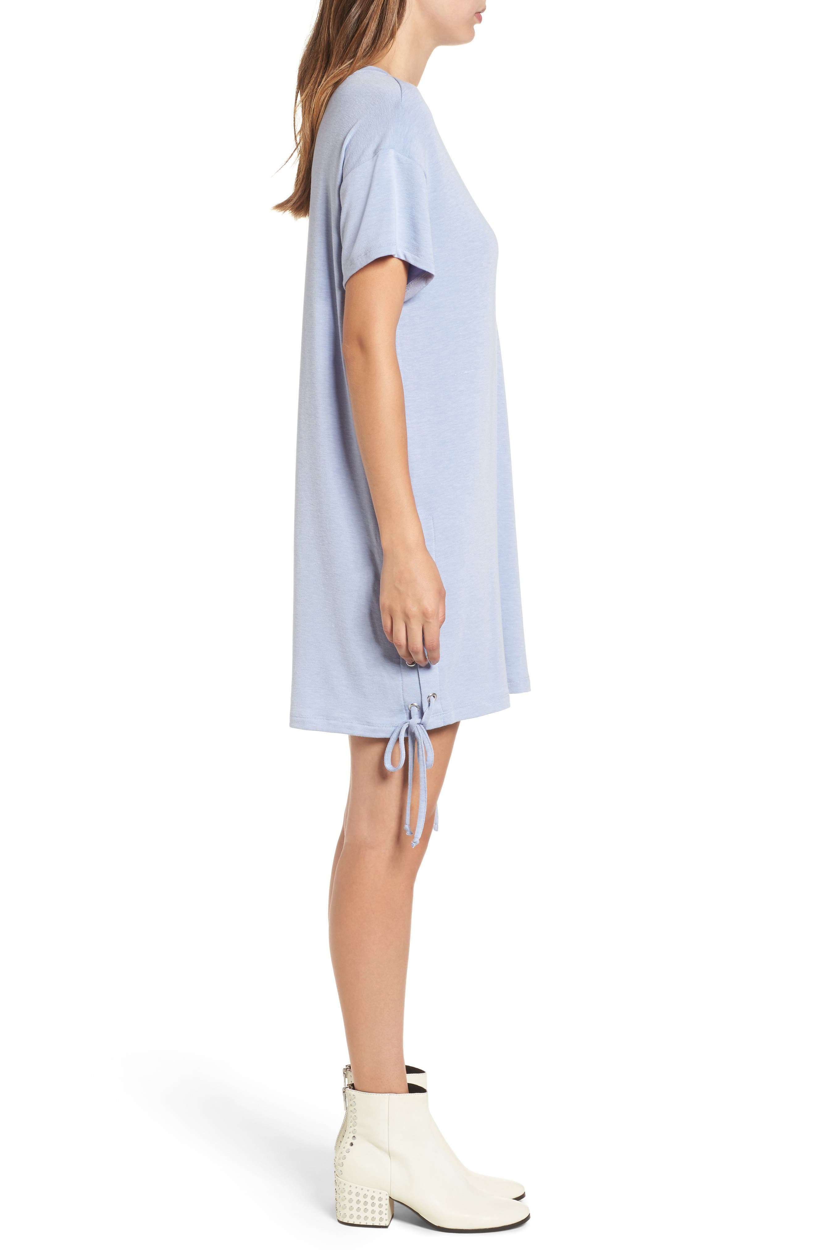 Alternate Image 3  - Lace-Up Side T-Shirt Dress