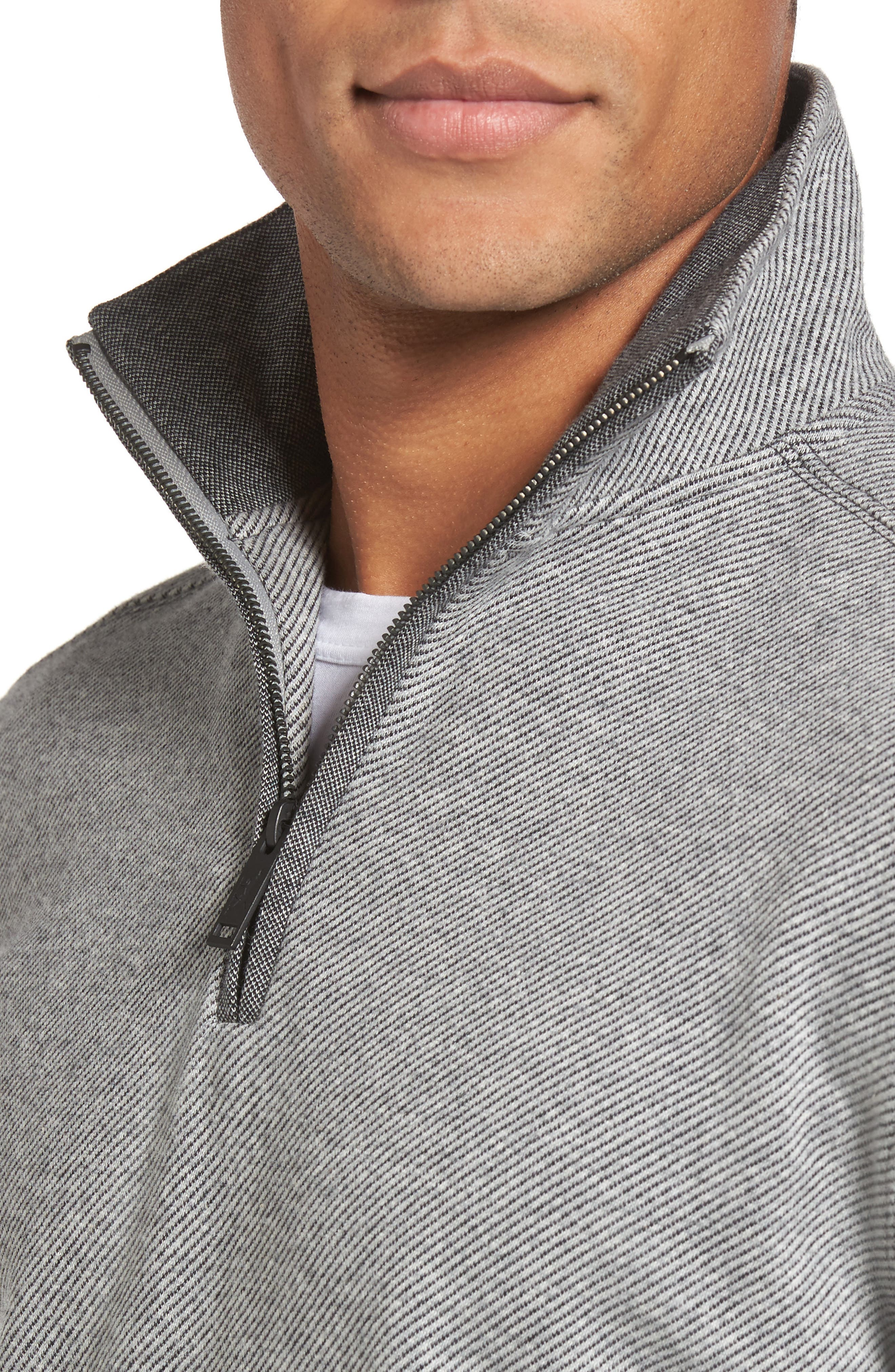 Meyer Desert Quarter Zip Pullover,                             Alternate thumbnail 4, color,                             Smoke