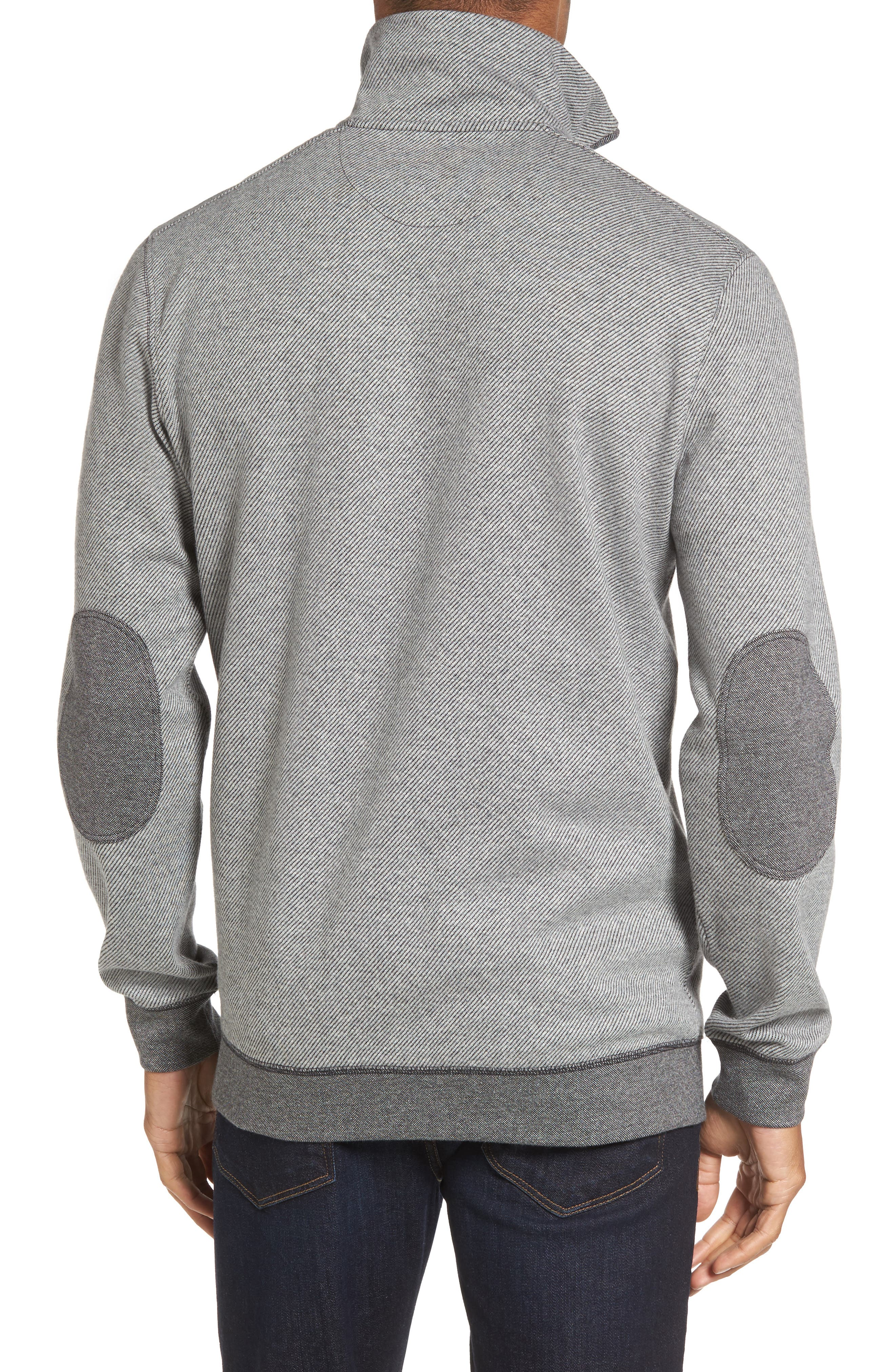 Meyer Desert Quarter Zip Pullover,                             Alternate thumbnail 2, color,                             Smoke