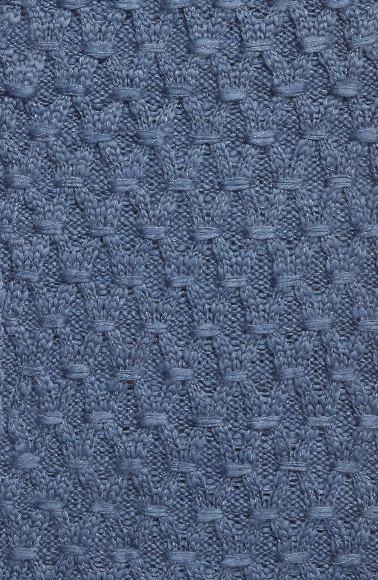 Solid Chunky Knit Infinity Scarf,                             Alternate thumbnail 4, color,                             Blue Bijou