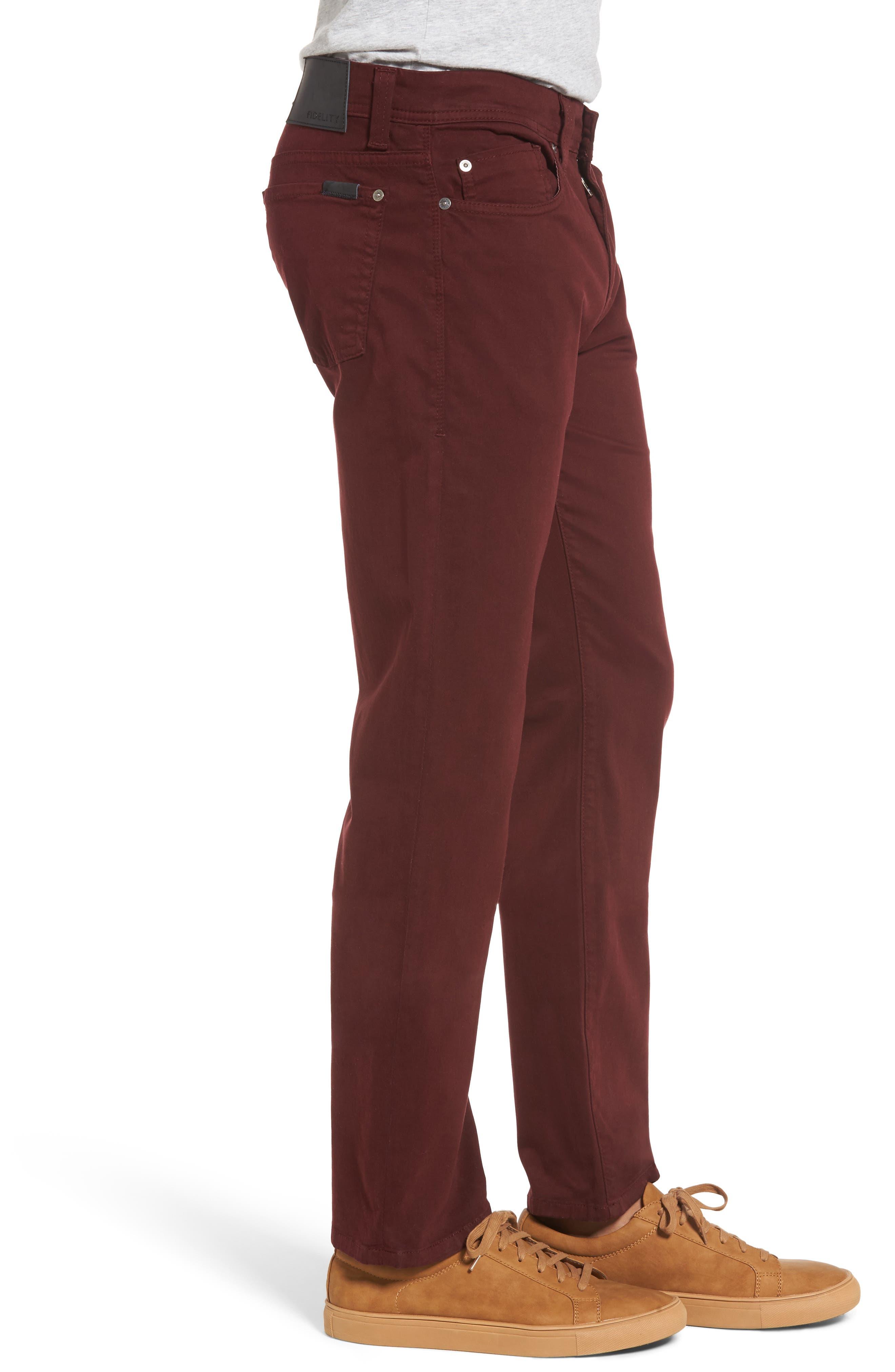 Jimmy Havana Slim Straight Leg Twill Pants,                             Alternate thumbnail 2, color,                             Oxan
