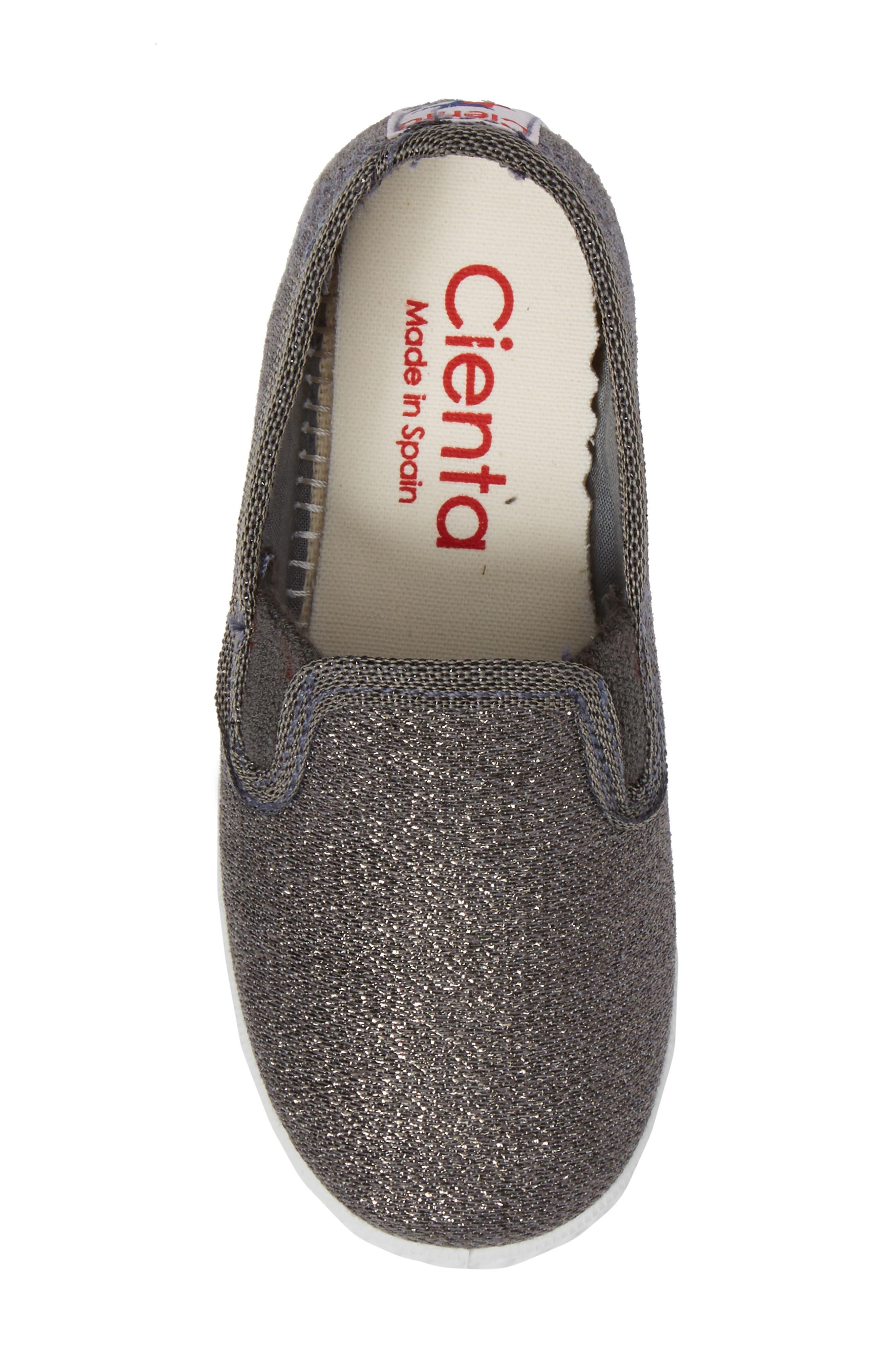 Alternate Image 5  - Cienta Glitter Slip-On Sneaker (Baby, Walker, Toddler and Little Kid)
