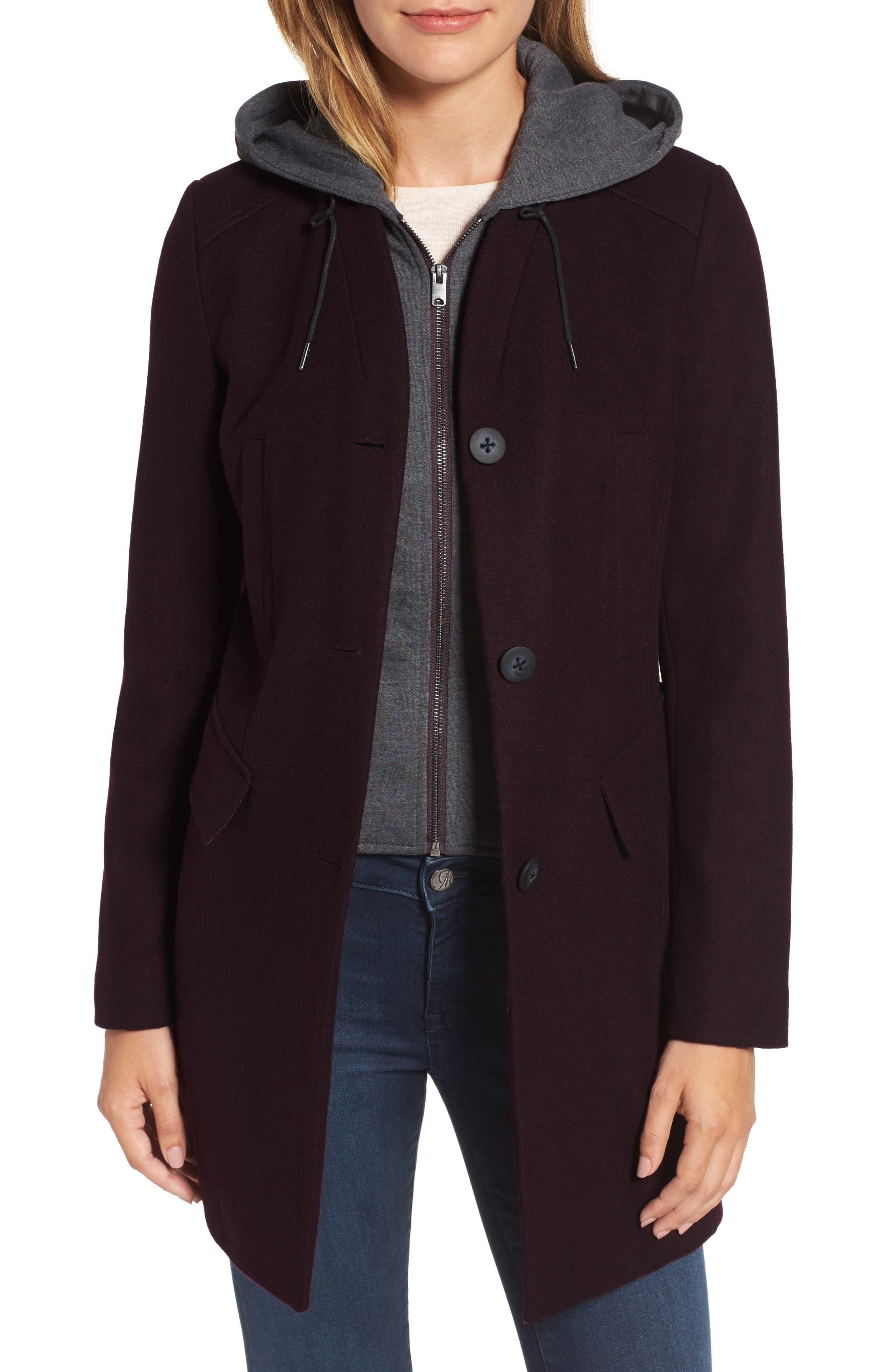 Andrew Marc Roxanne Wool 2-in-1 Car Coat