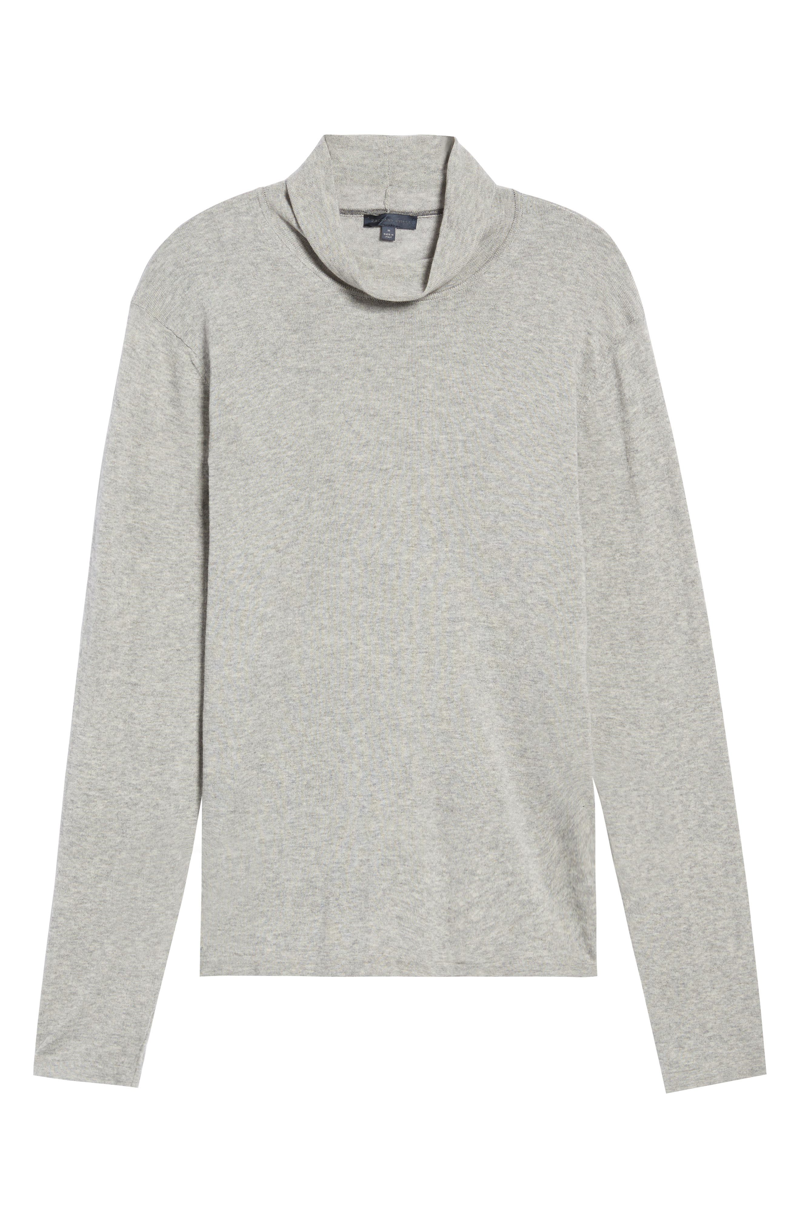 Hess Wool Turtleneck Sweater,                             Alternate thumbnail 6, color,                             Light Grey