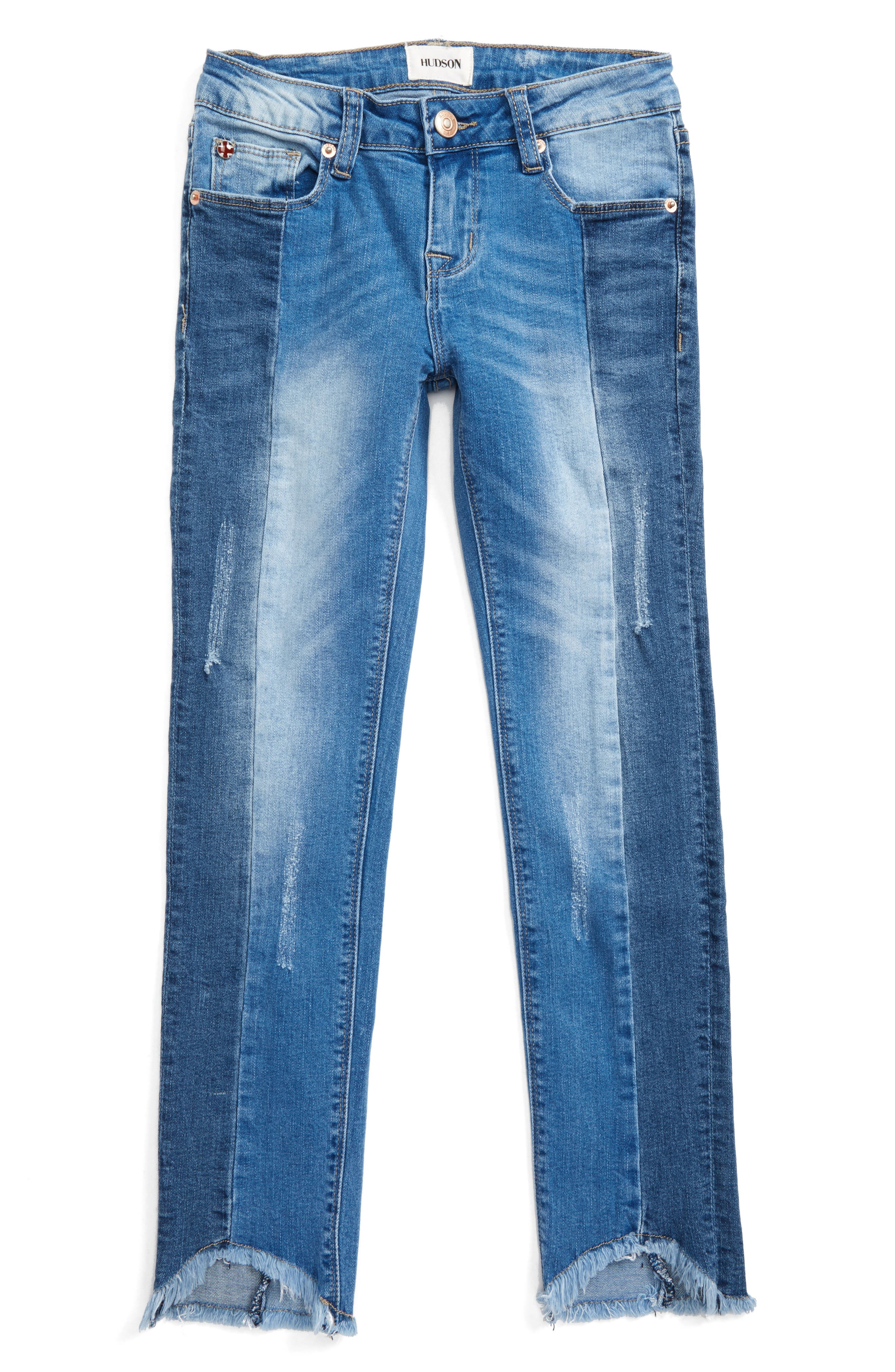 Redone Crop Skinny Jeans,                             Main thumbnail 1, color,                             Peace