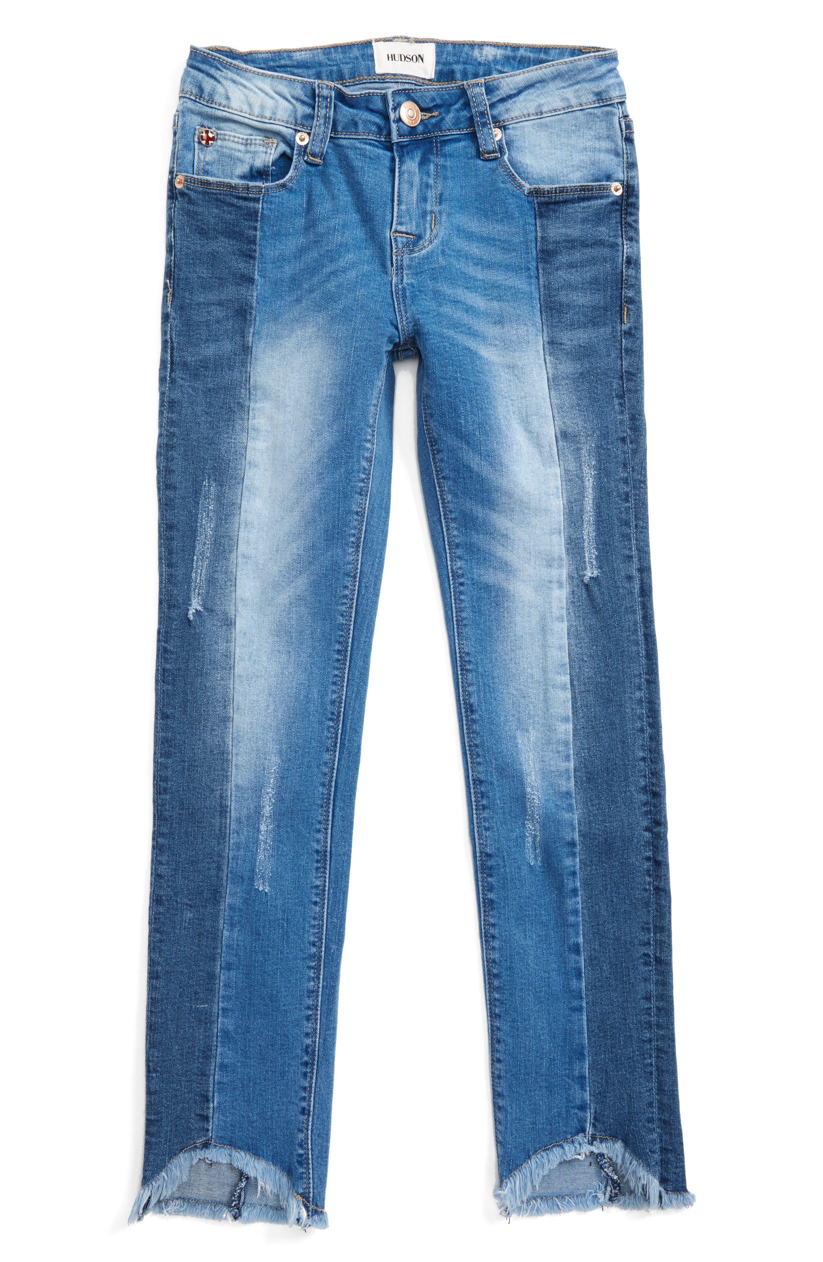 Hudson Kids Redone Crop Skinny Jeans (Big Girls)