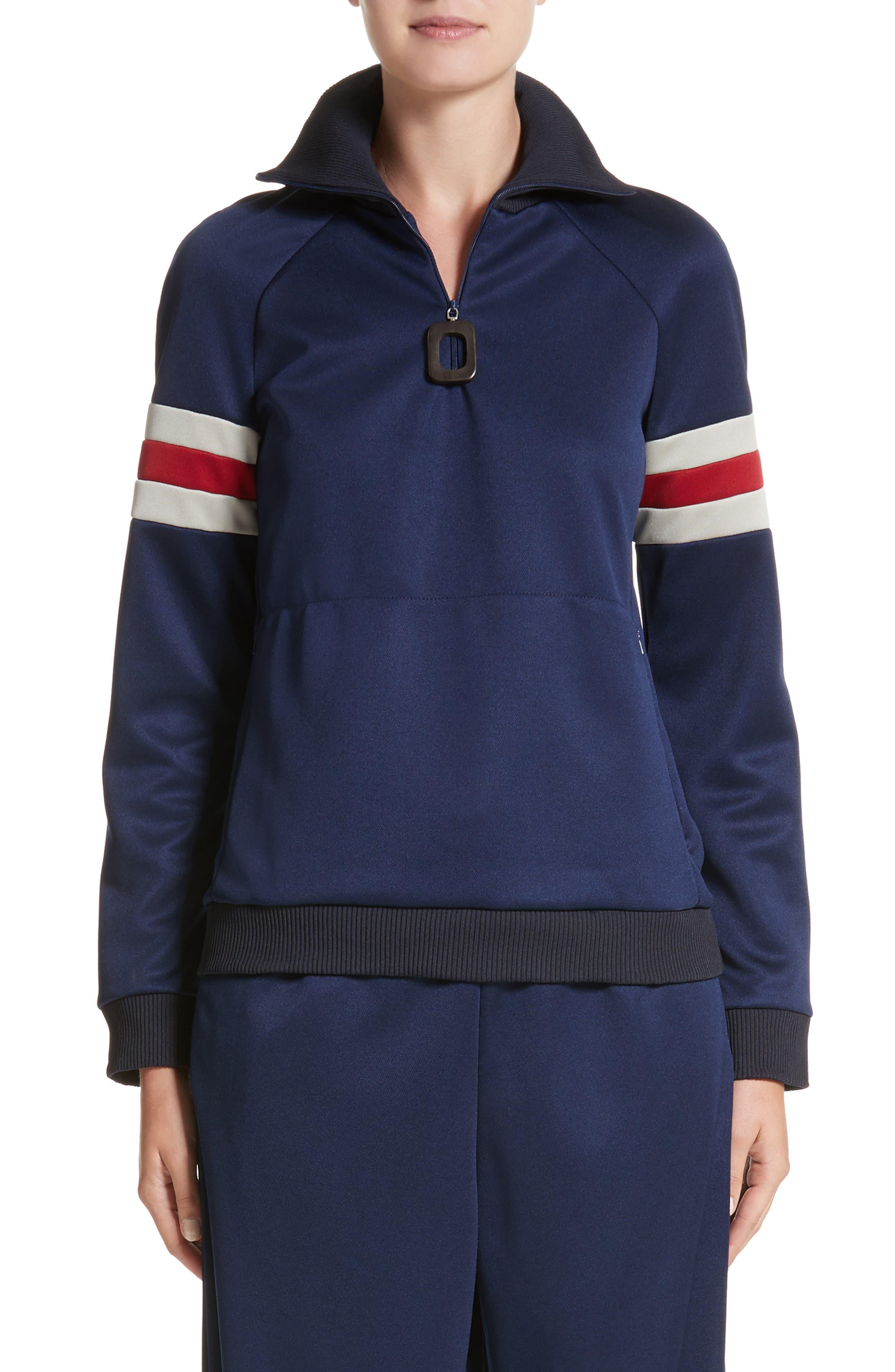 J.W.ANDERSON Athletic Half Zip Pullover