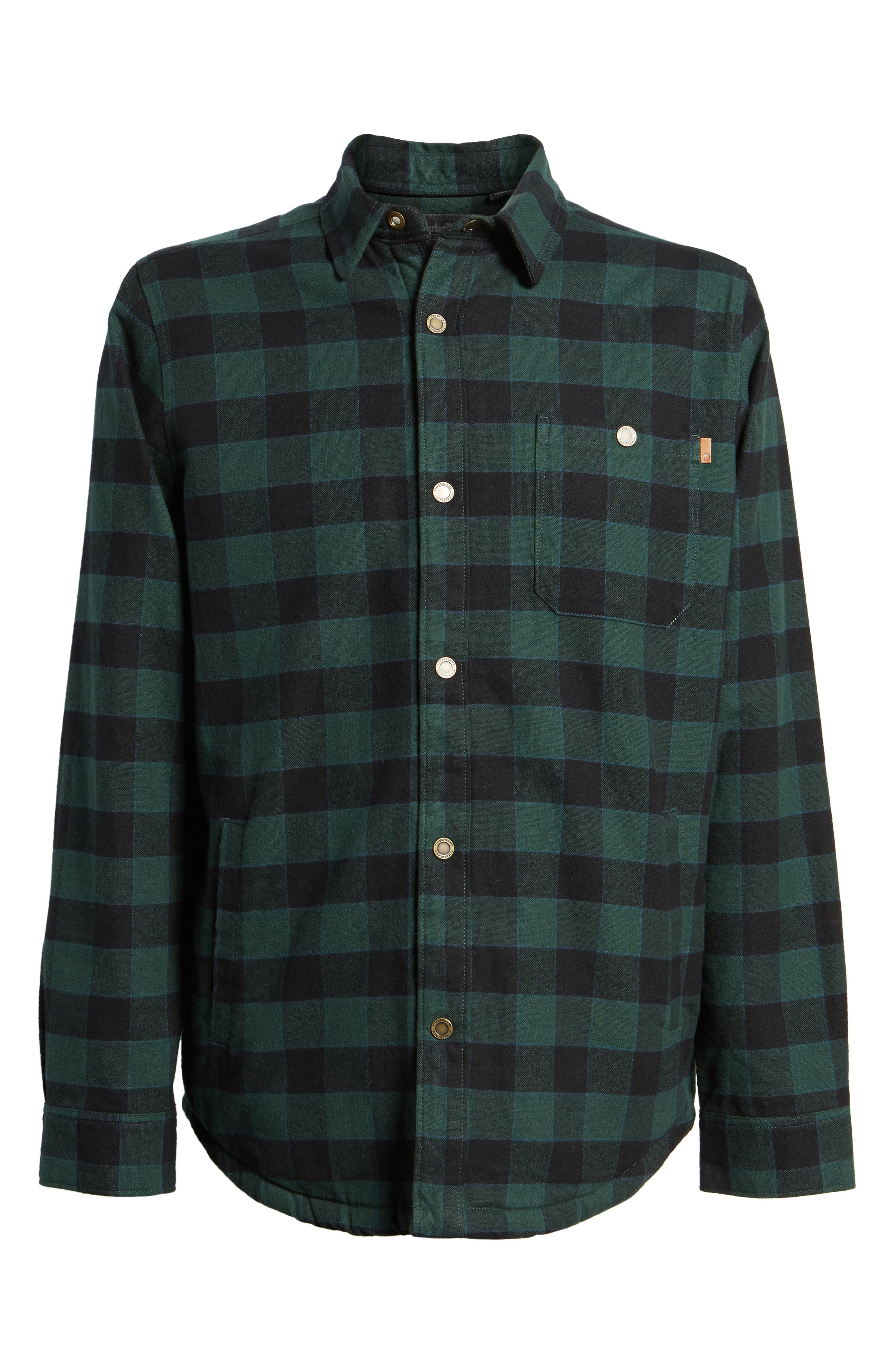 Alternate Image 6  - Timberland Check Shirt Jacket with Faux Shearling Lining
