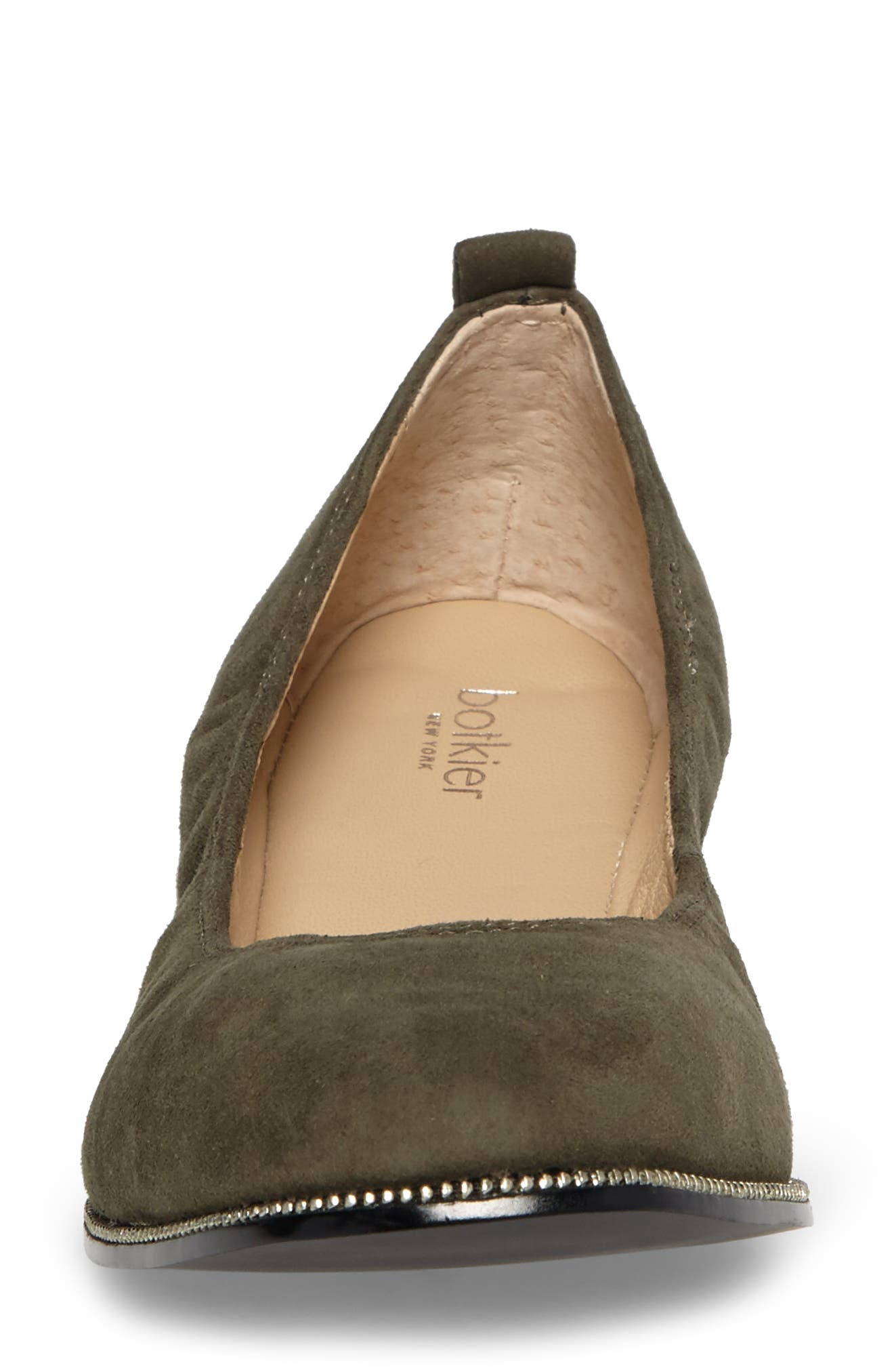 Mason Ballet Flat,                             Alternate thumbnail 4, color,                             Moss Suede