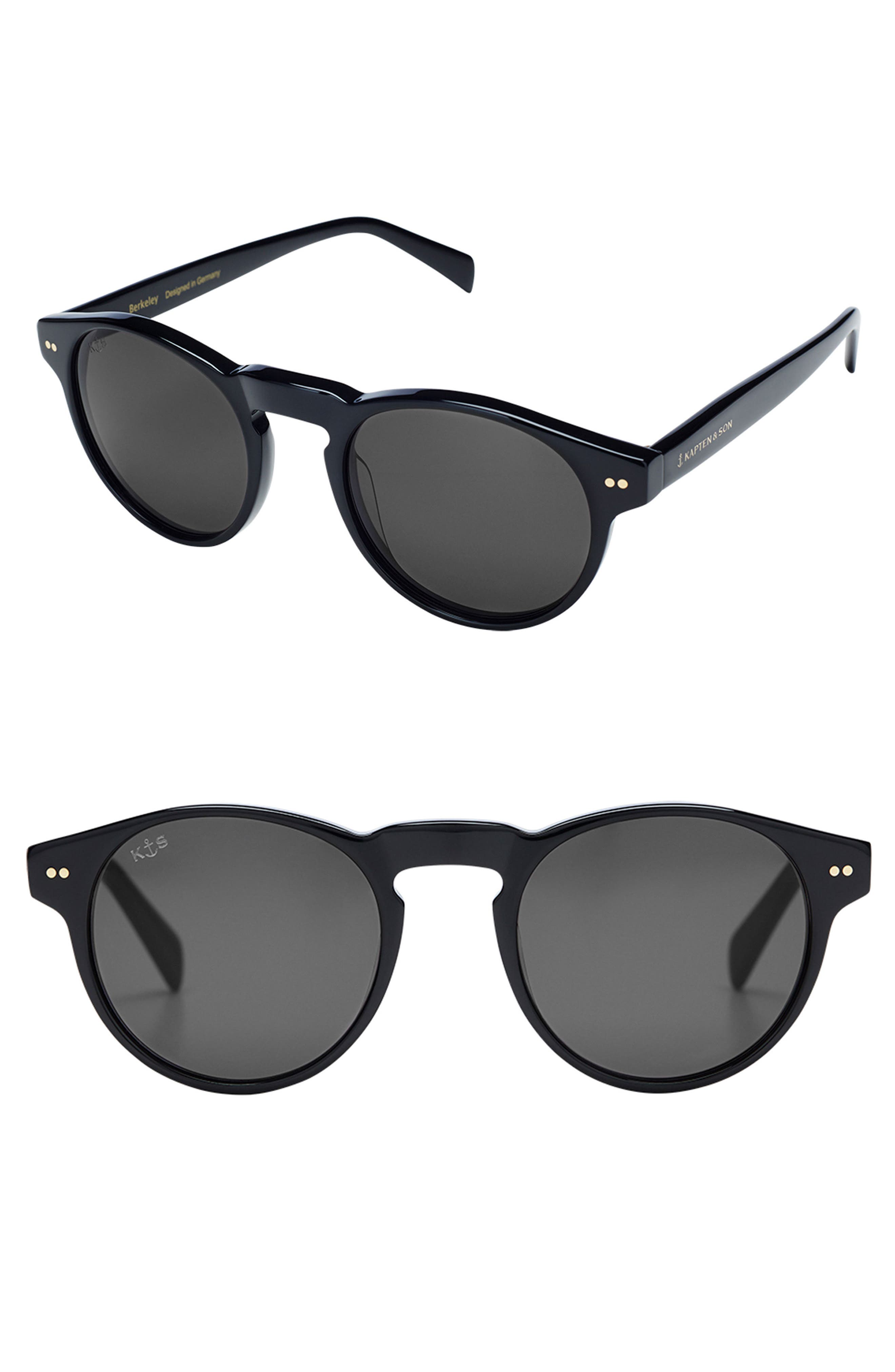 Berkley 48mm Sunglasses,                         Main,                         color, Black/ Black