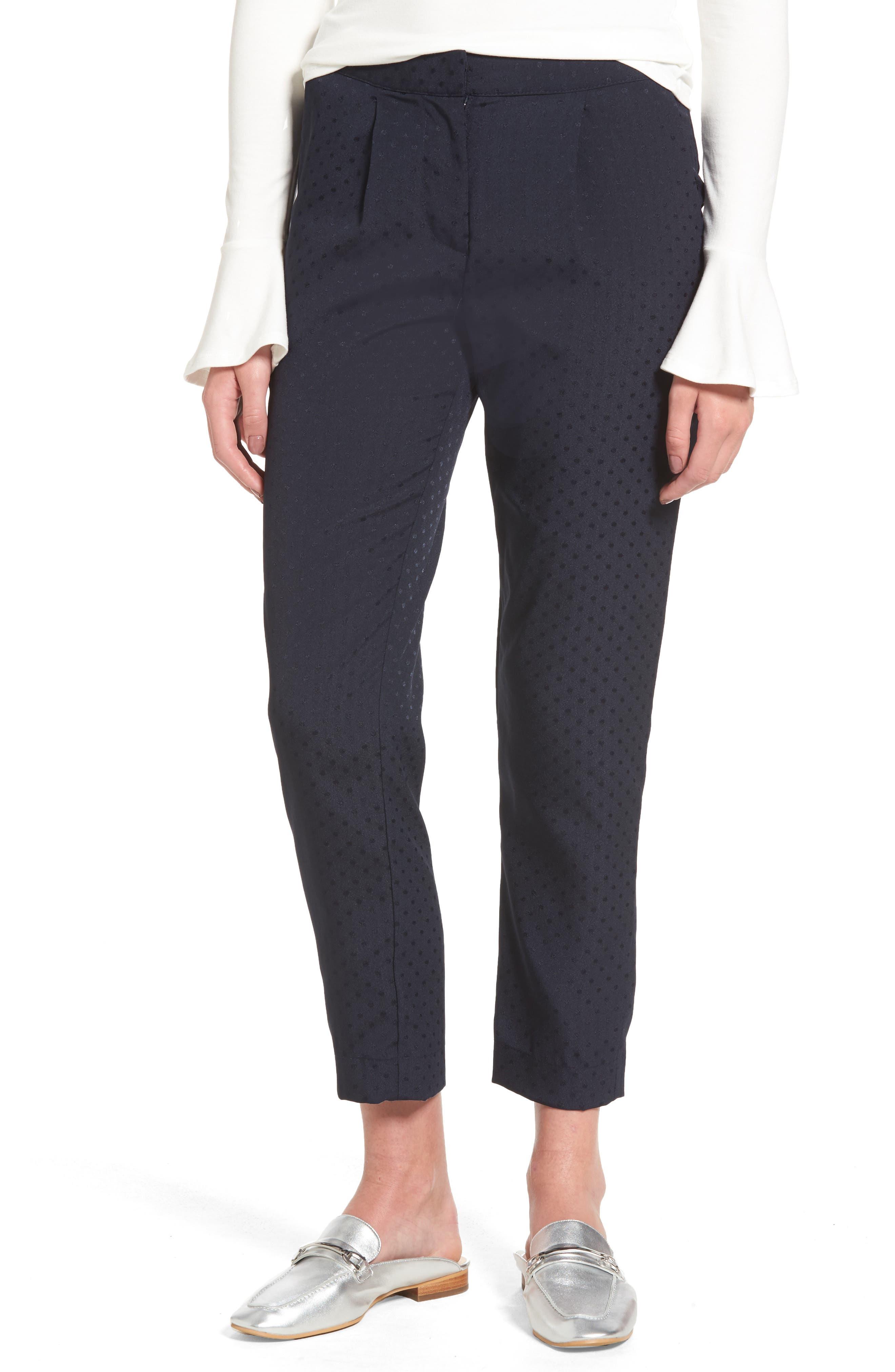 Main Image - Willow & Clay Tonal Dot Slim Pants