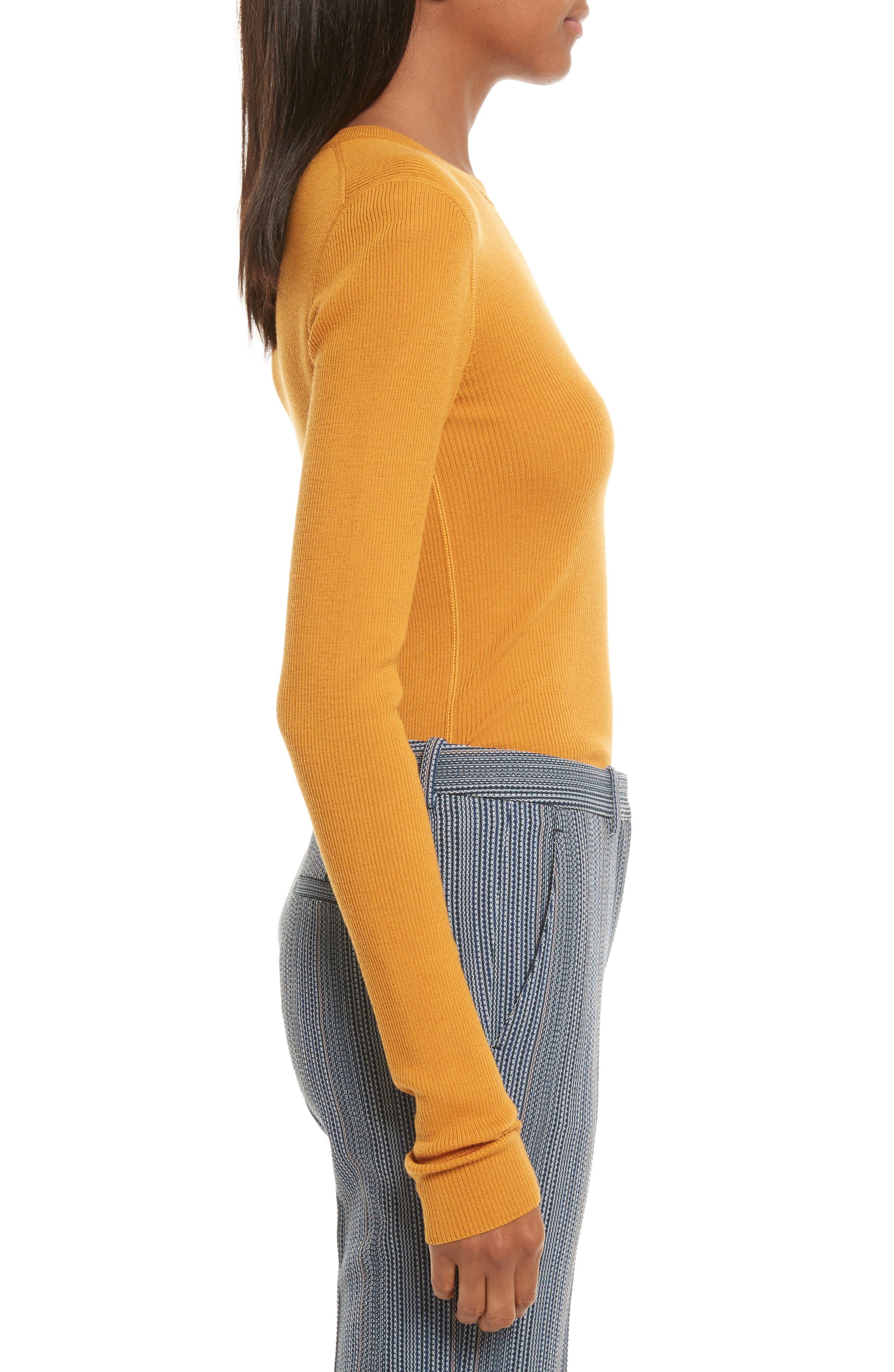 Mirzi Ribbed Sweater,                             Alternate thumbnail 3, color,                             Papaya