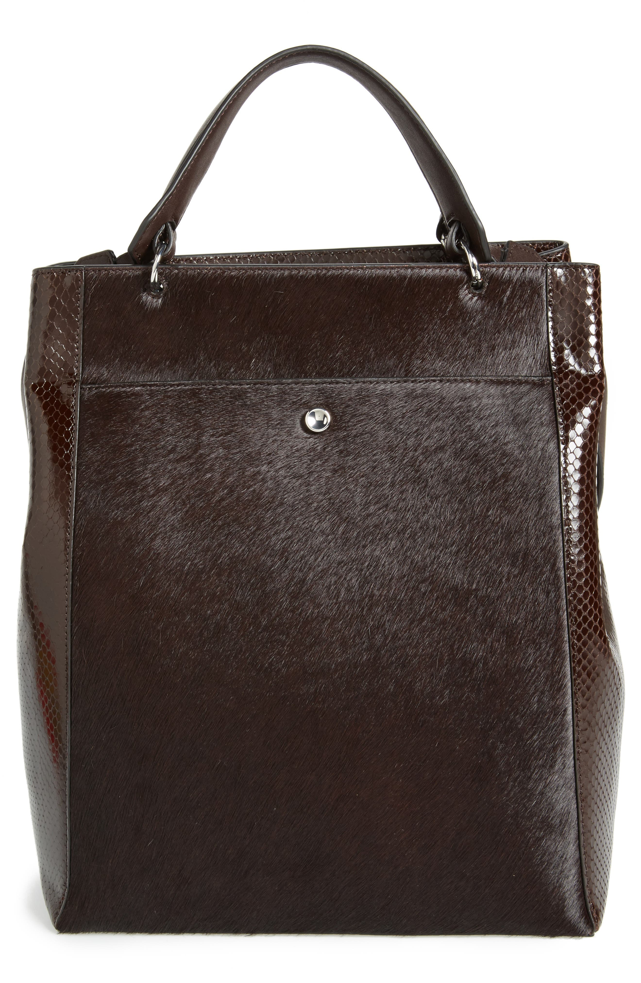 ELIZABETH AND JAMES Large Eloise Genuine Calf Hair & Leather Tote