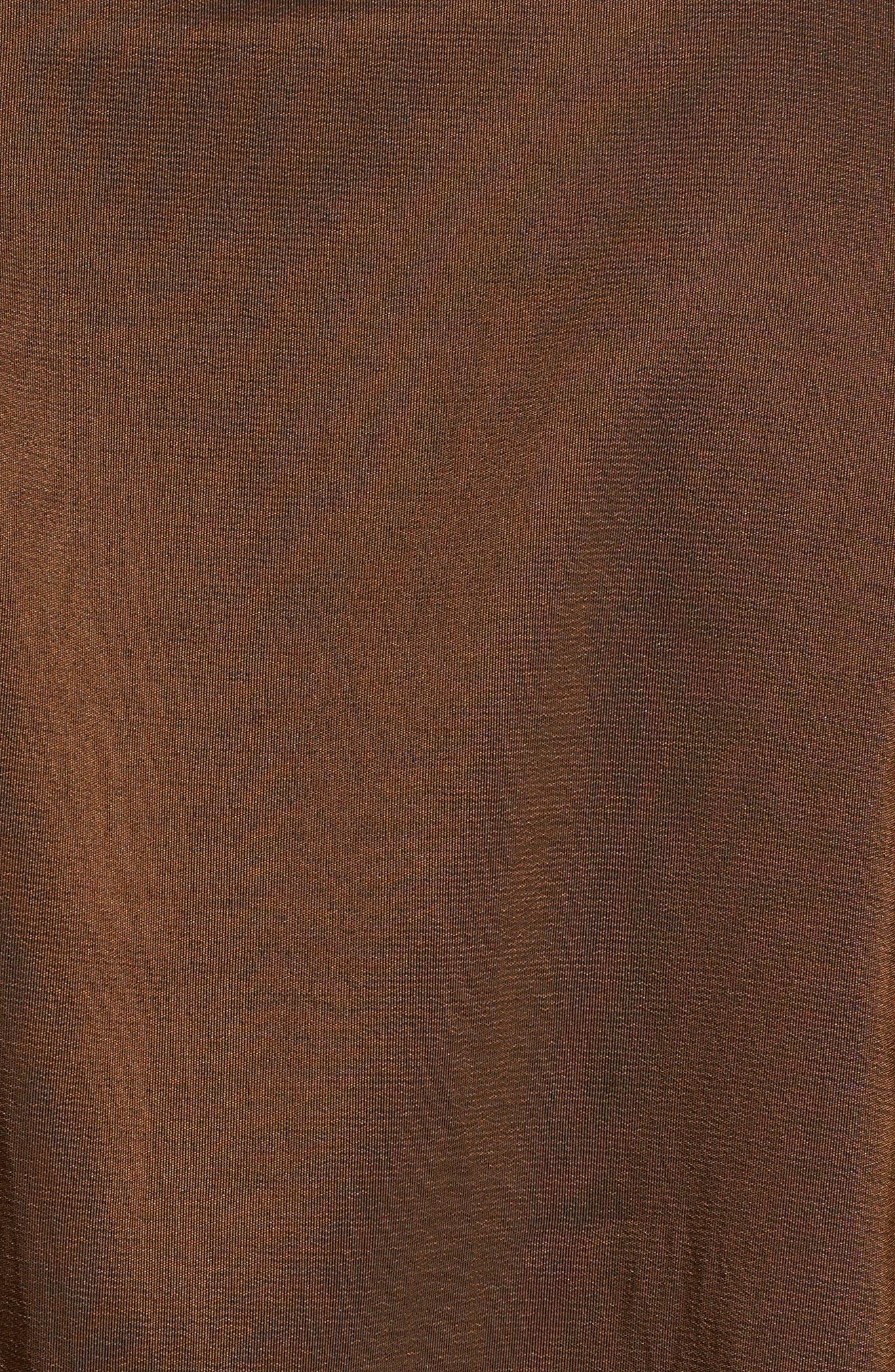 Reversible Pleat Hood Packable Travel Coat,                             Alternate thumbnail 4, color,                             Bronze/ Black