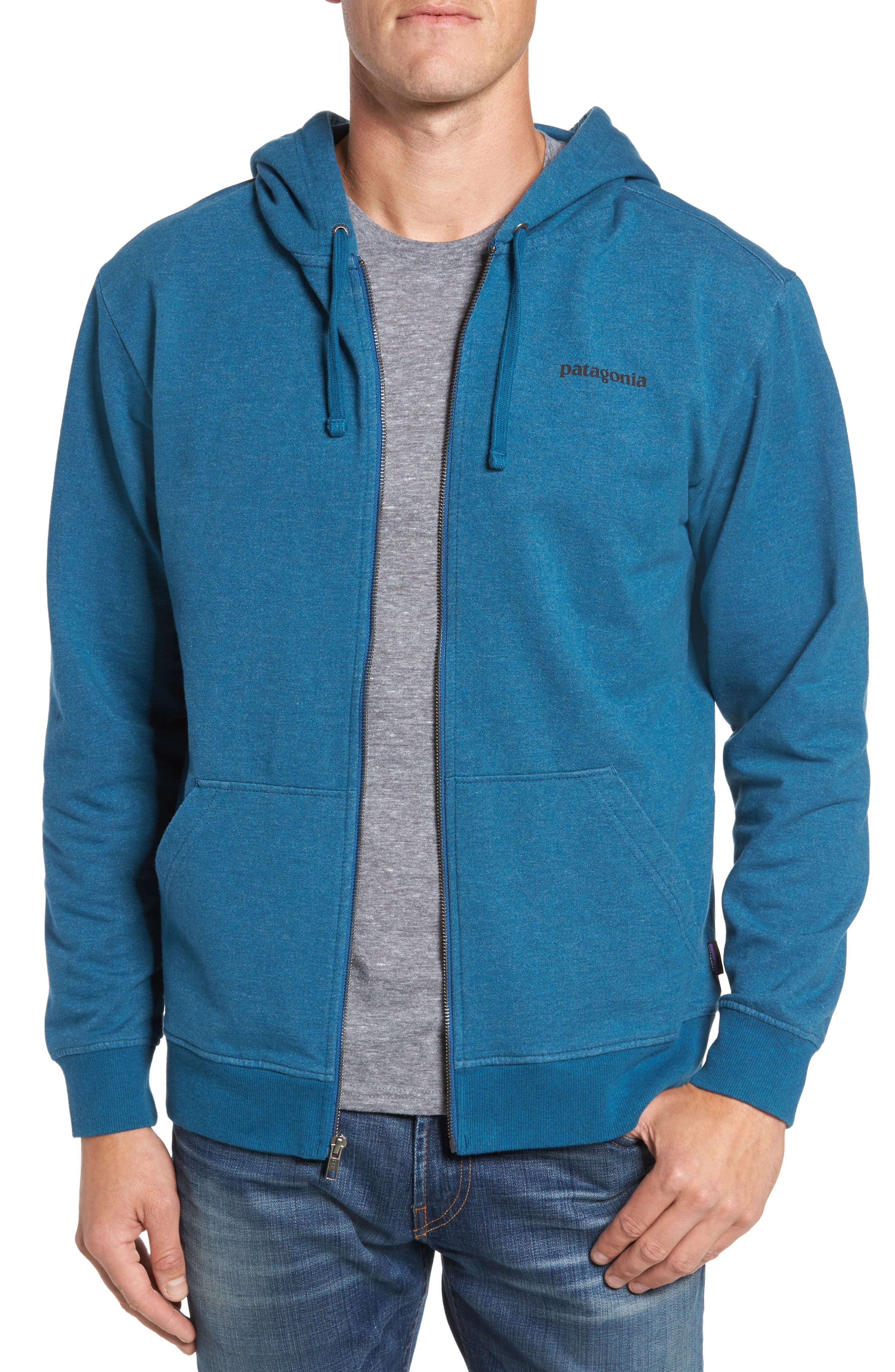 Patagonia P-6 Logo Modern Fit Zip Hoodie