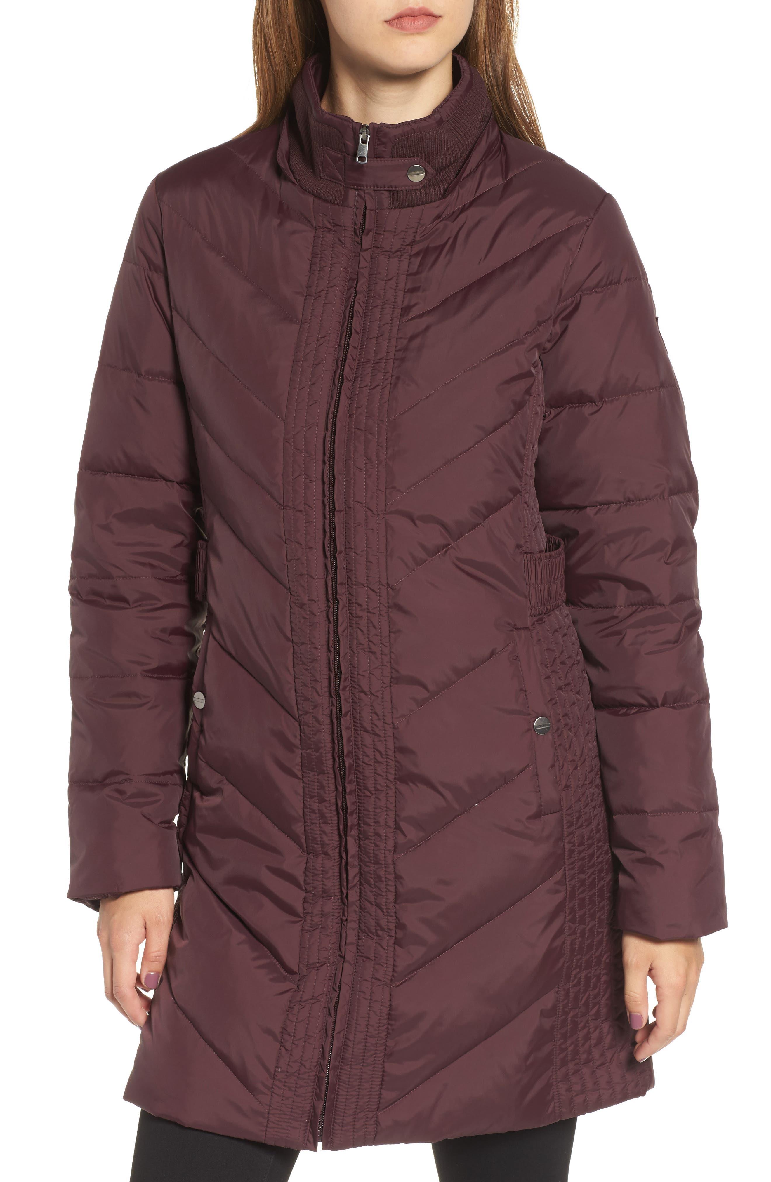 Alternate Image 4  - Larry Levine Faux Fur Trim Hooded Jacket