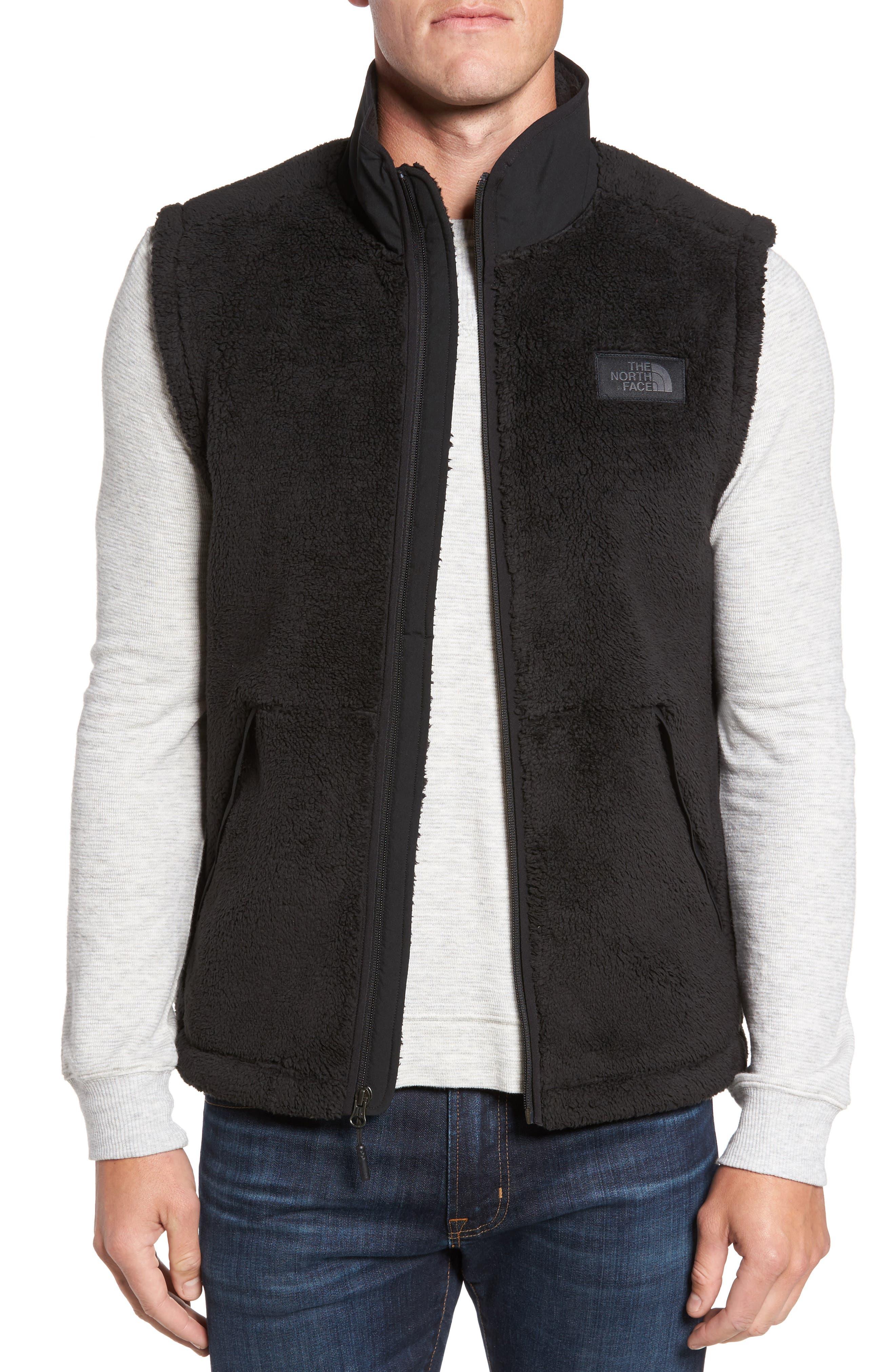 Campshire Fleece Vest,                             Main thumbnail 1, color,                             Black