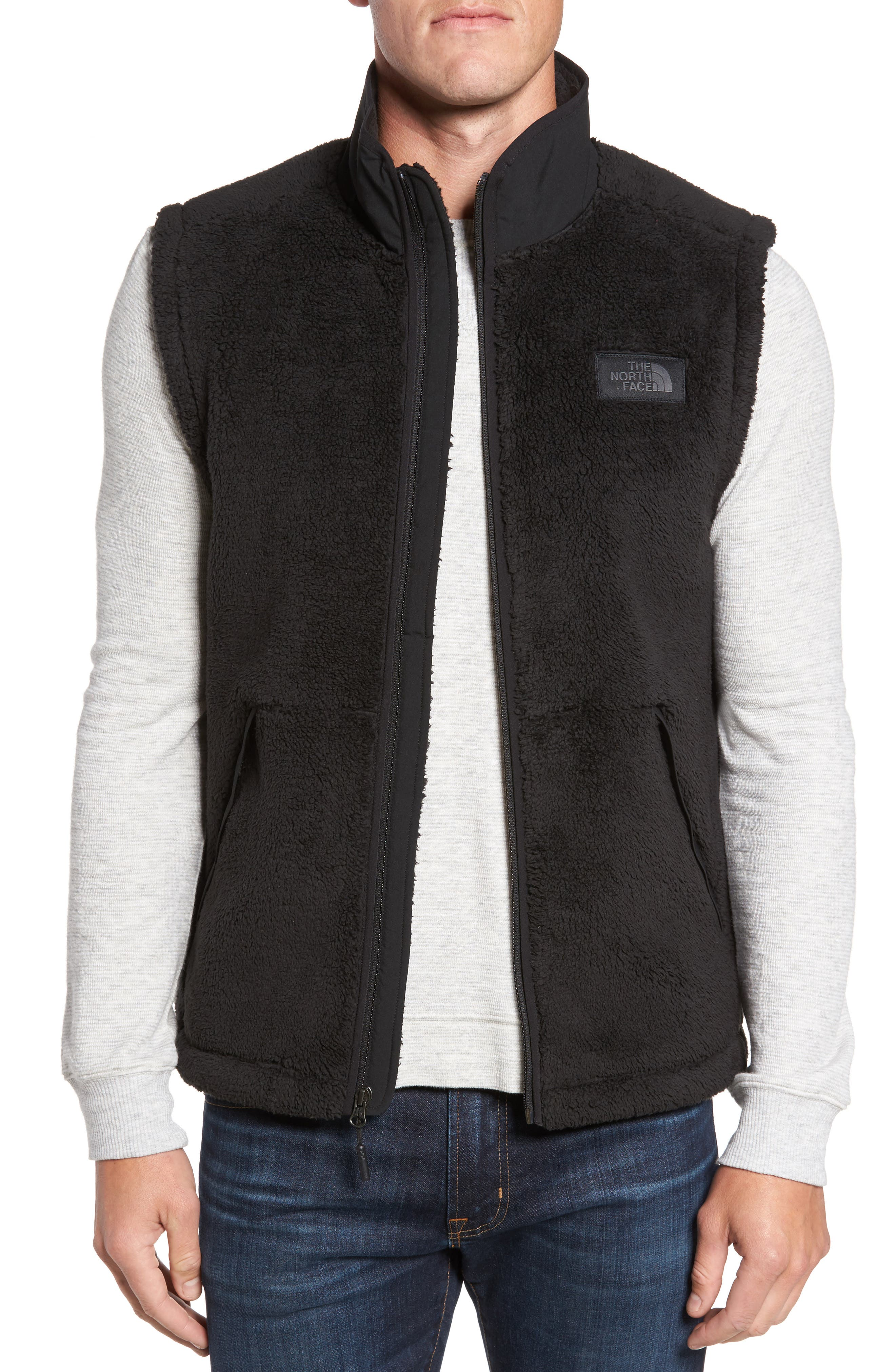 Campshire Fleece Vest,                         Main,                         color, Black